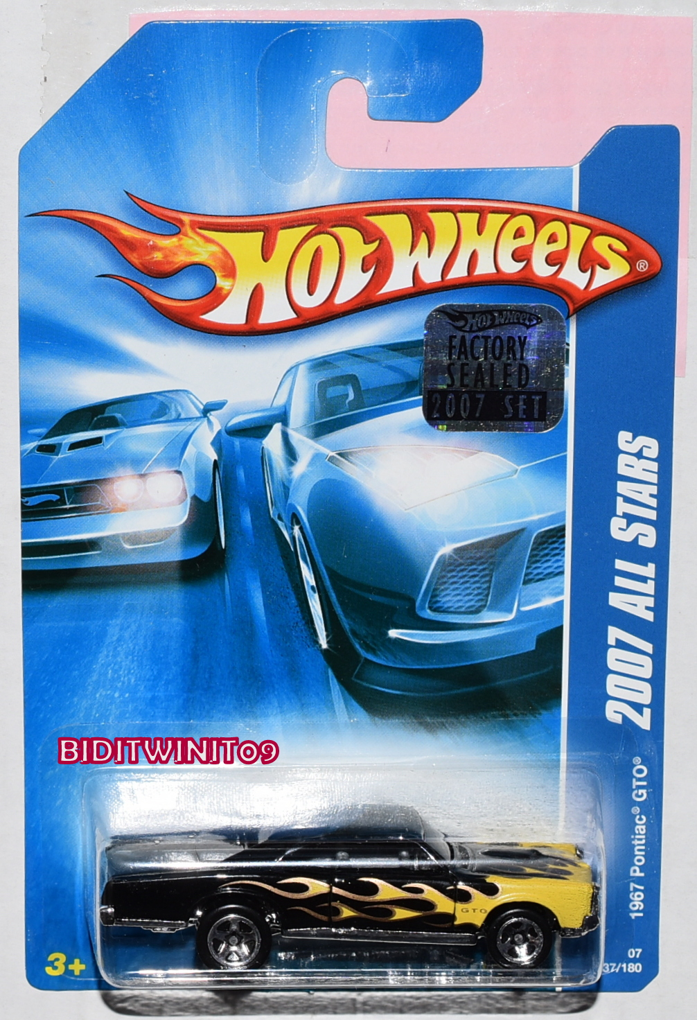 HOT WHEELS 2007 ALL STARS 1967 PONTIAC GTO BLACK FACTORY SEALED
