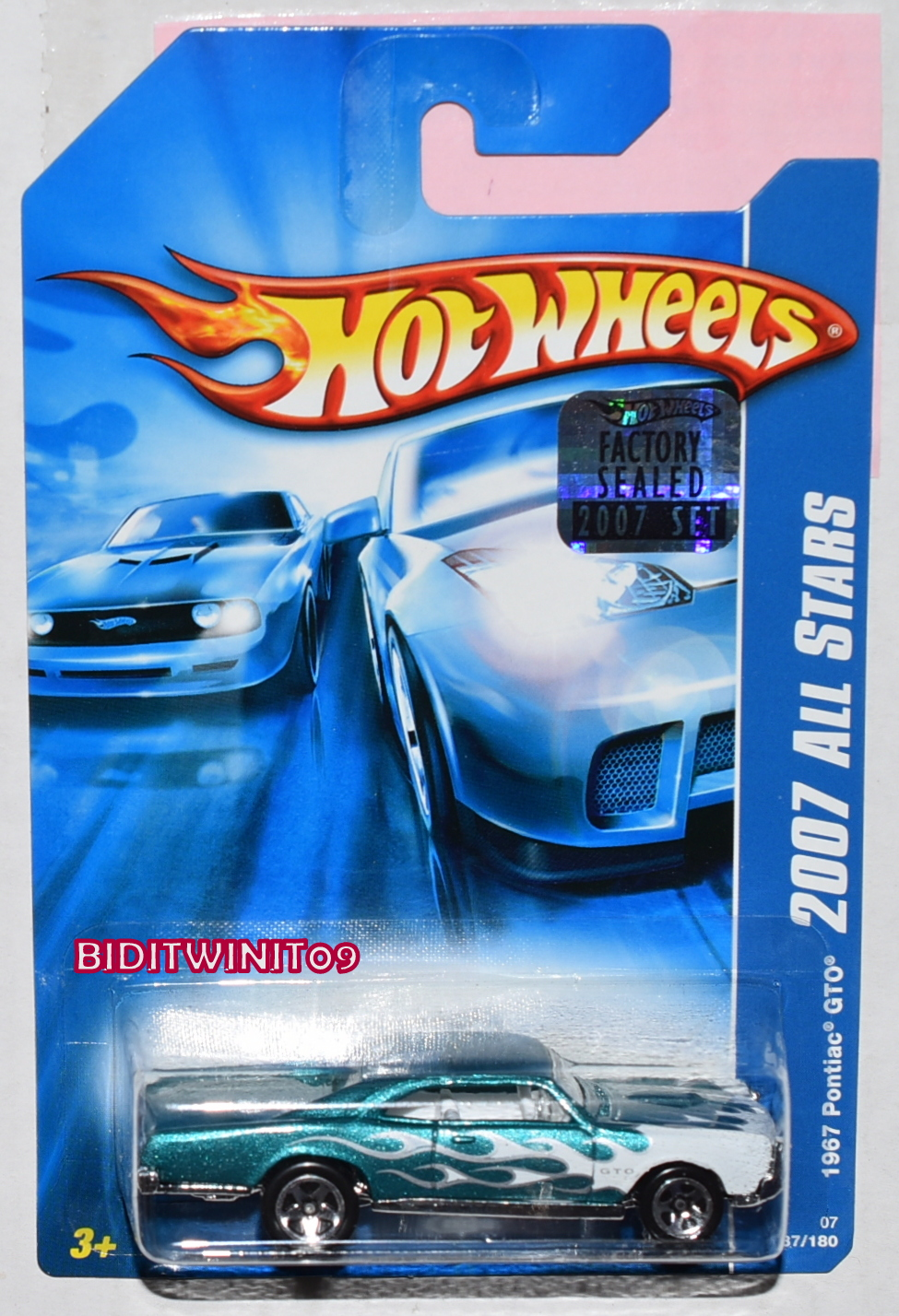 HOT WHEELS 2007 ALL STARS 1967 PONTIAC GTO GREEN FACTORY SEALED