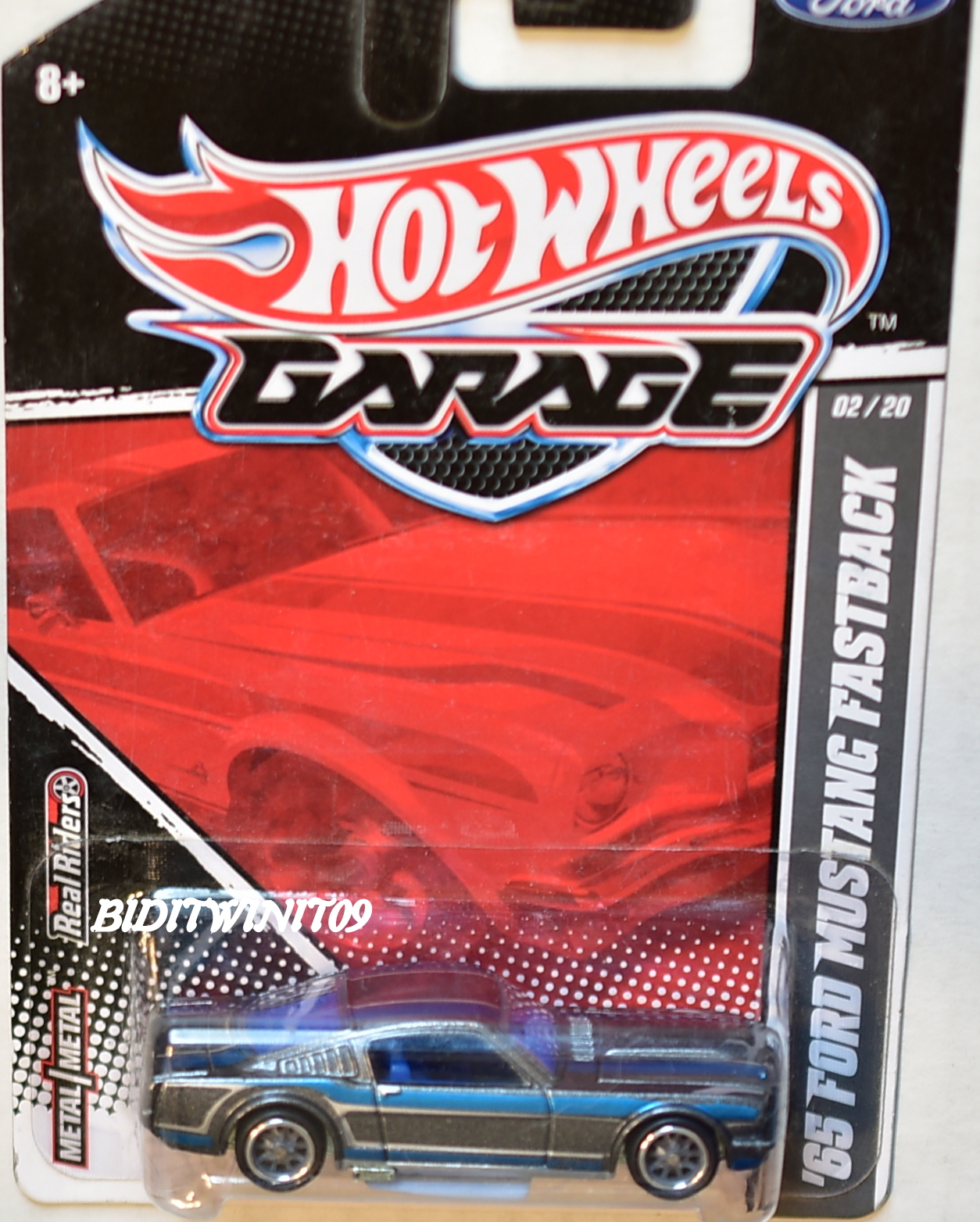 HOT WHEELS GARAGE '65 FORD MUSTANG FASTBACK #02/20