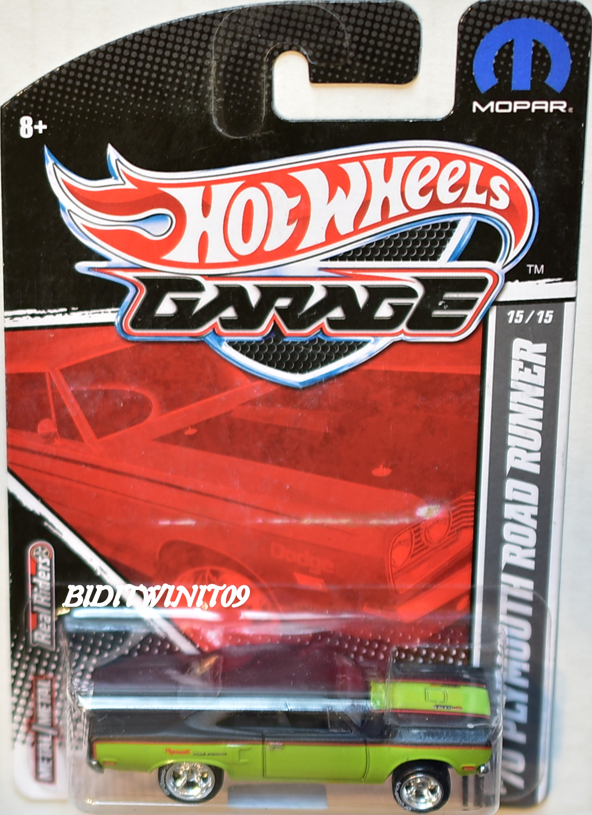 HOT WHEELS GARAGE '70 PLYMOUTH ROAD RUNNER #15/15