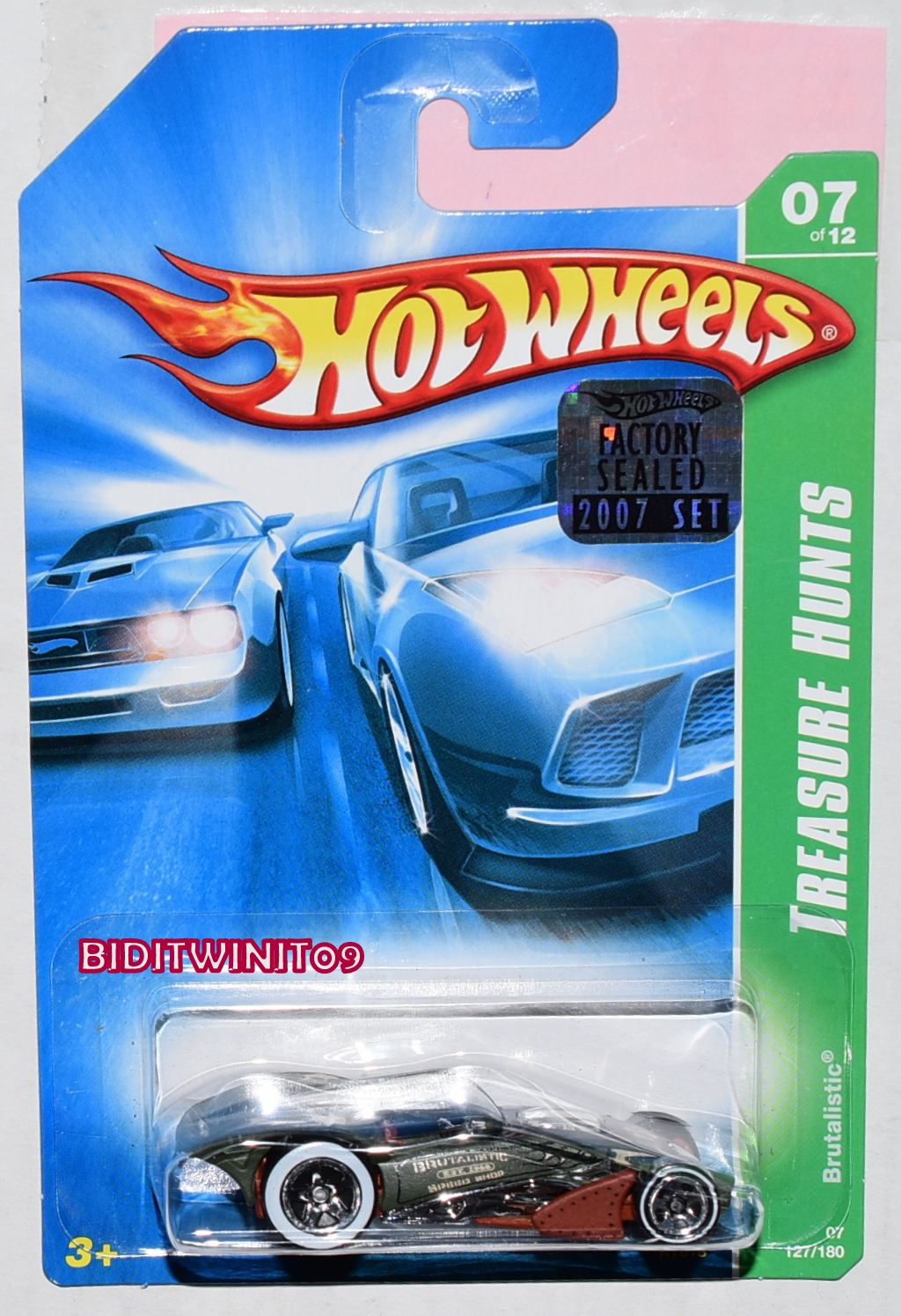 HOT WHEELS 2007 BASIC TREASURE HUNT BRUTALISTIC #07/12 FACTORY SEALED
