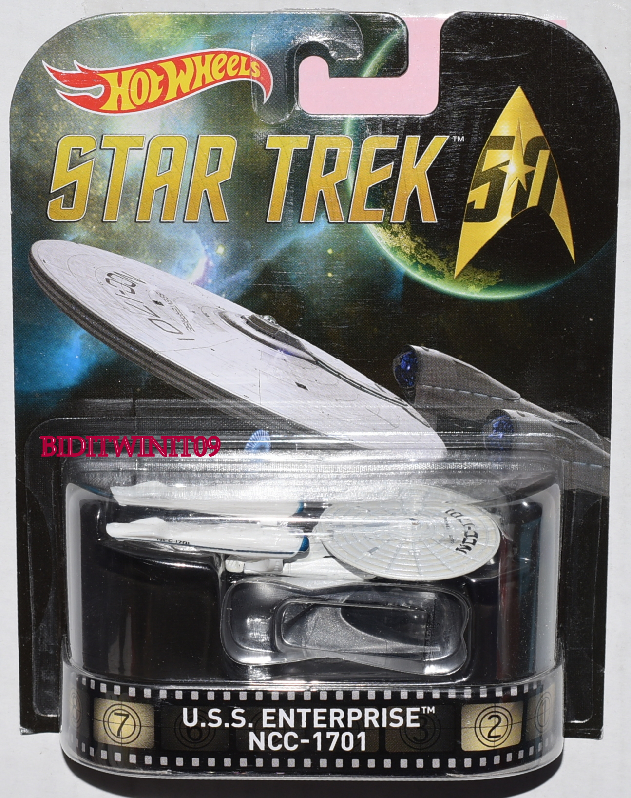 HOT WHEELS RETRO ENTERTAINMENT STAR TREK 50 U.S.S. ENTERPRISE NSS-1701 E+