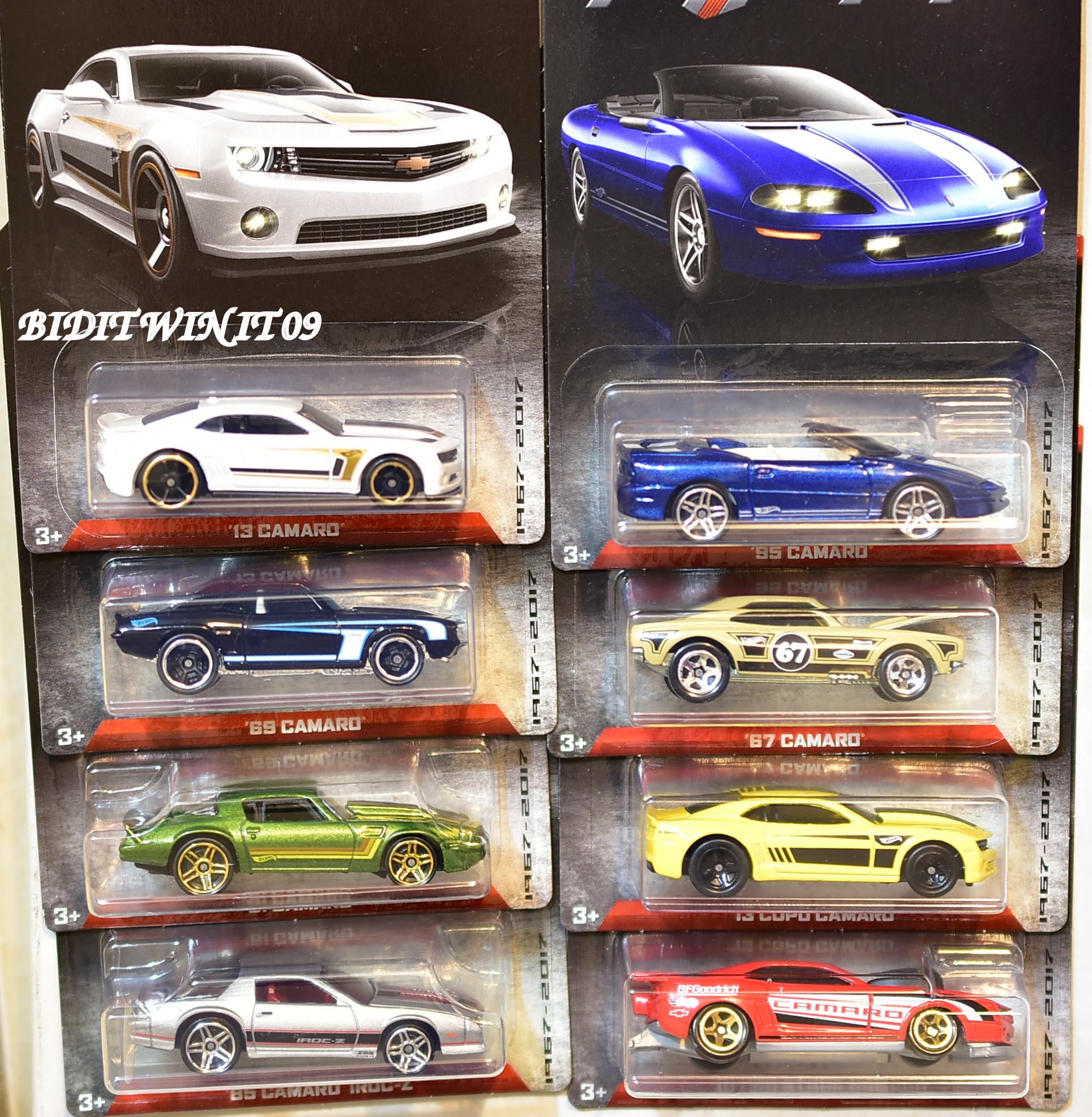 HOT WHEELS 2017 CAMARO FIFTY COMPLETE SET OF 8