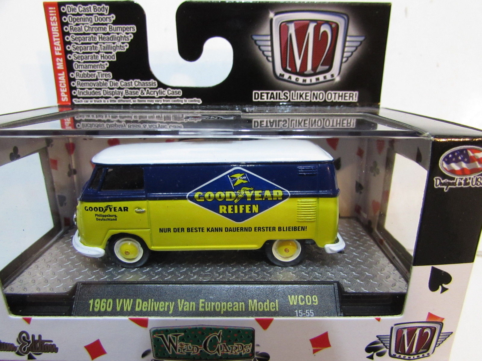 M2 MACHINES WILD - CARDS 1960 VW DELIVERY VAN EUROPEAN MODEL