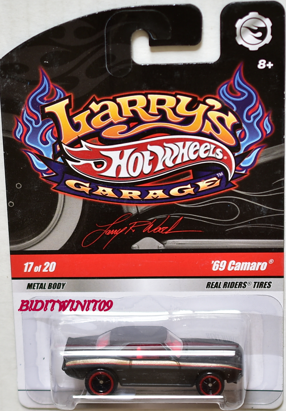 HOT WHEELS LARRY'S GARAGE #17/20 '69 CAMARO BLACK