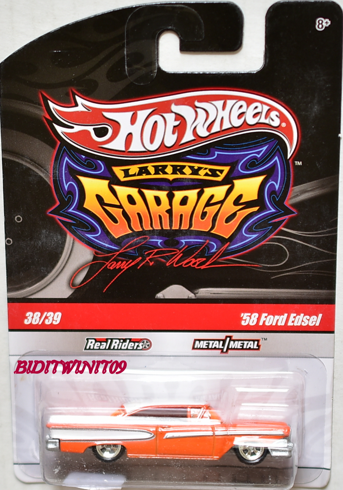 HOT WHEELS LARRY'S GARAGE #38/39 '58 FORD EDSEL ORANGE