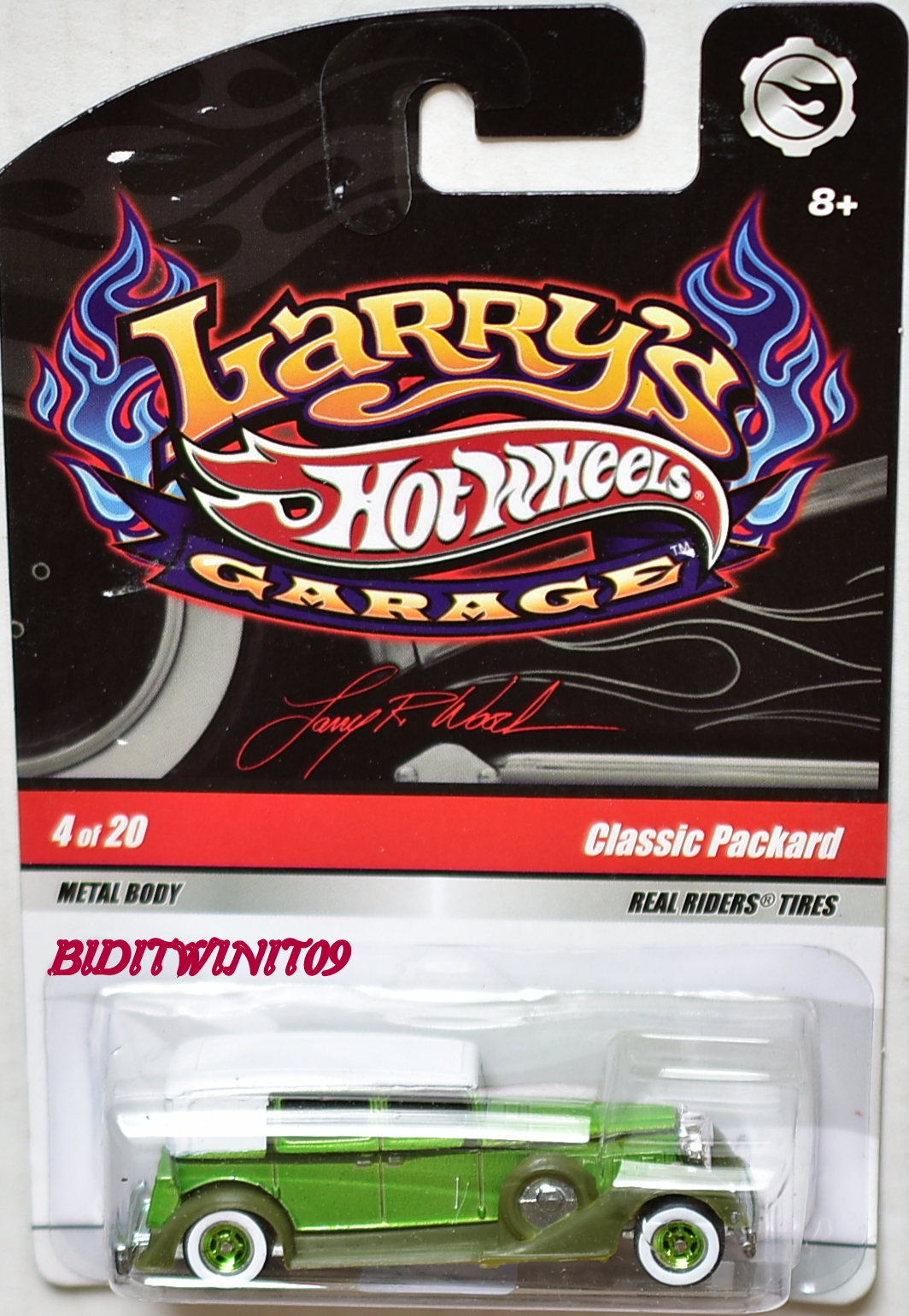 HOT WHEELS LARRY'S GARAGE #4/20 CLASSIC PACKARD GREEN