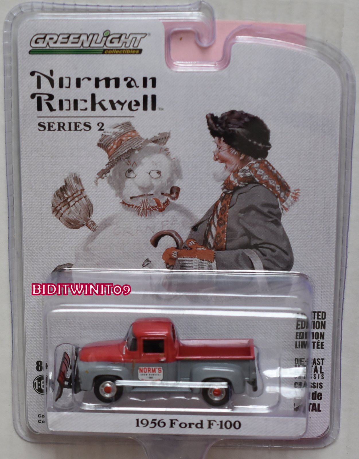 GREENLIGHT NORMAN ROCKWELL SERIES 2 1956 FORD F-100 WITH SNOW PLOW
