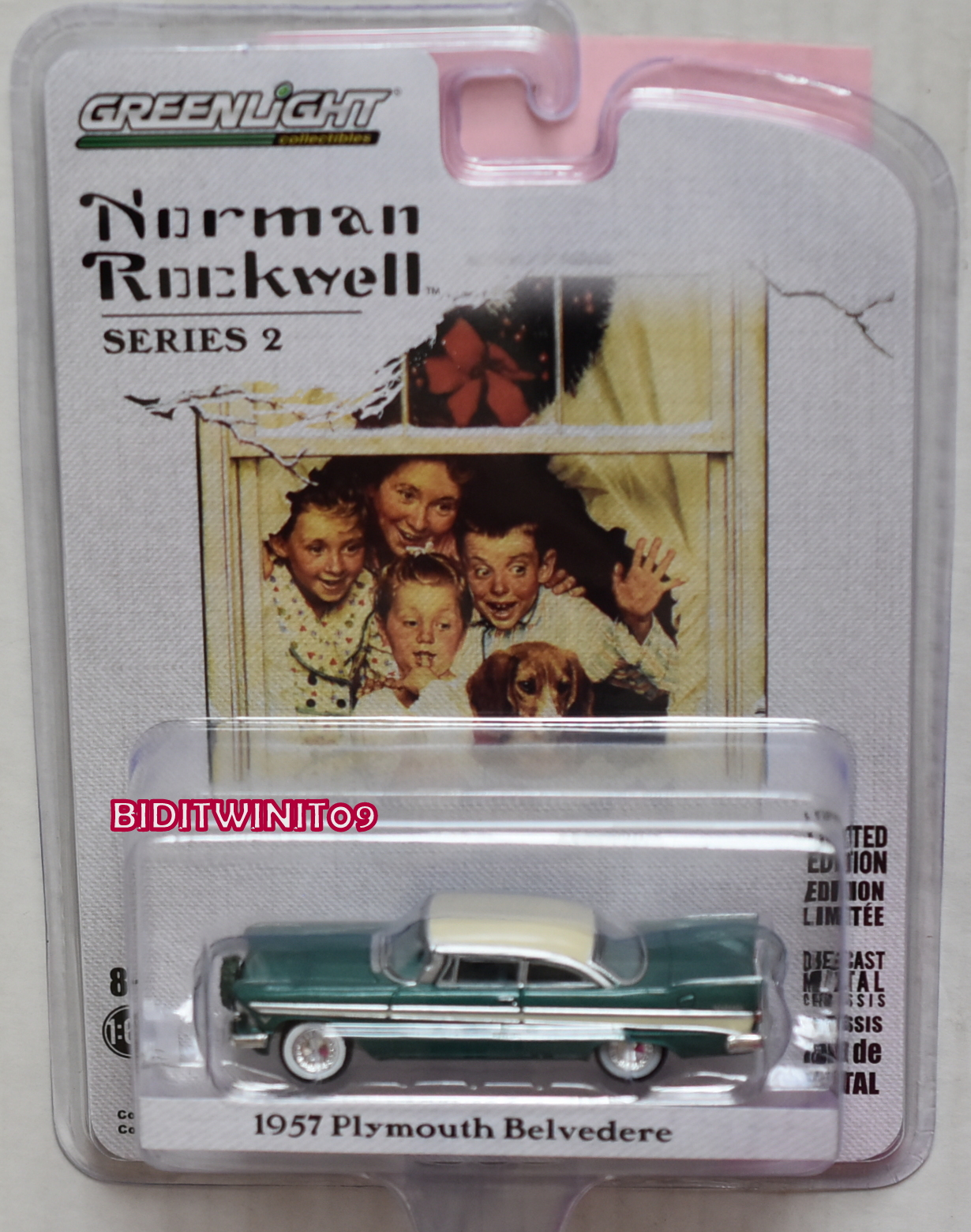 GREENLIGHT NORMAN ROCKWELL SERIES 2 1957 PLYMOUTH BELVEDERE