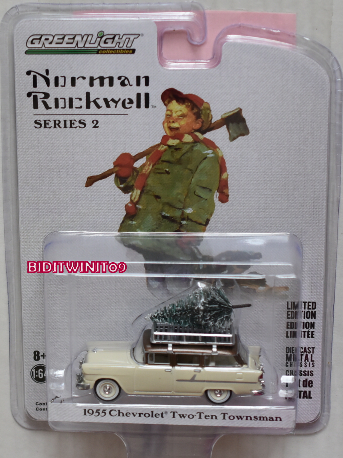 GREENLIGHT NORMAN ROCKWELL SERIES 2 1955 CHEVROLET TWO-TEN TOWNSMAN