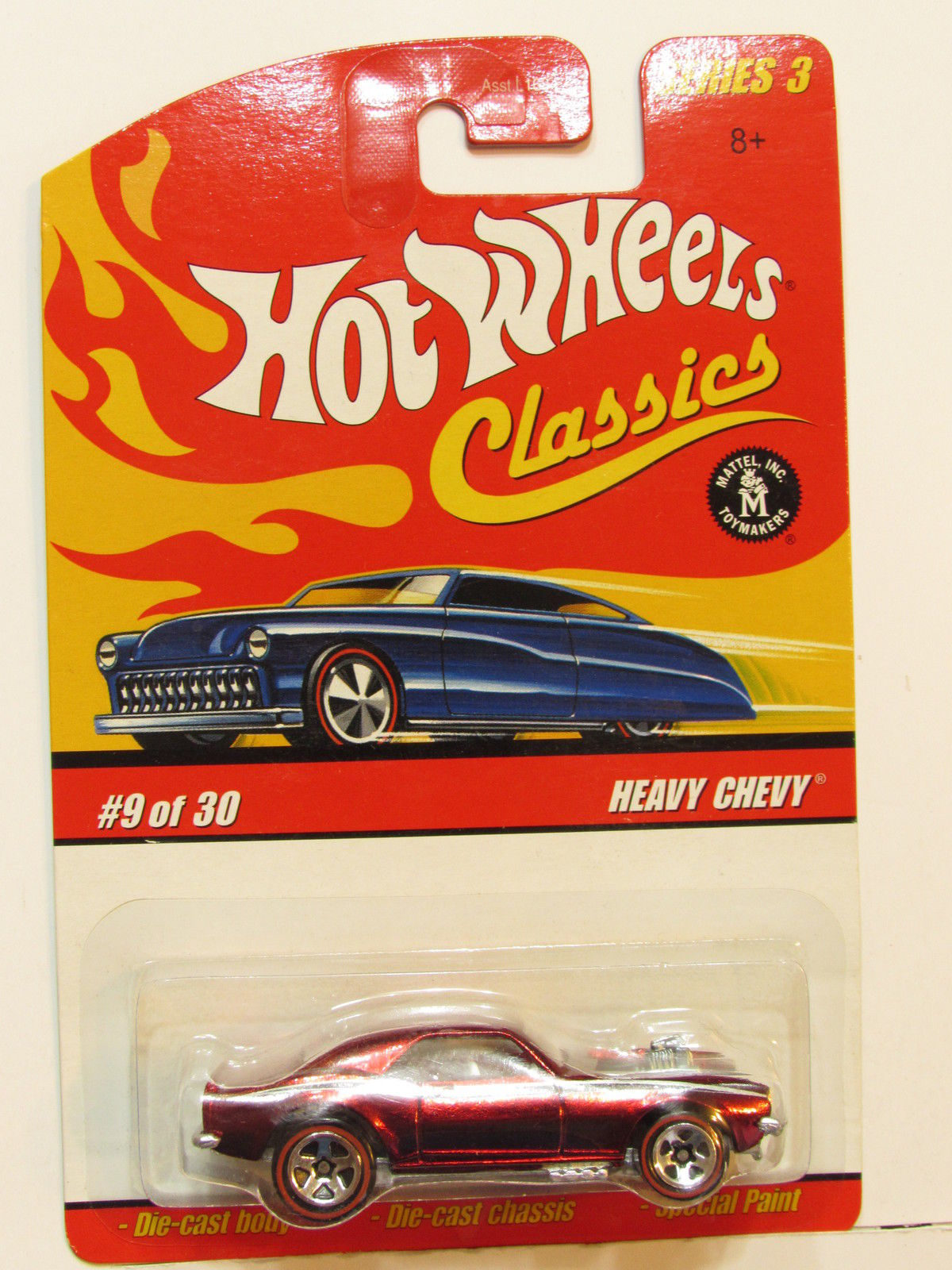 HOT WHEELS CLASSICS SERIES 3 #9/30 HEAVY CHEVY RED E+