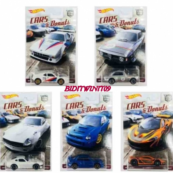 HOT WHEELS 2017 CAR CULTURE CARS & DONUTS SET OF 5 (PRE-ORDER)