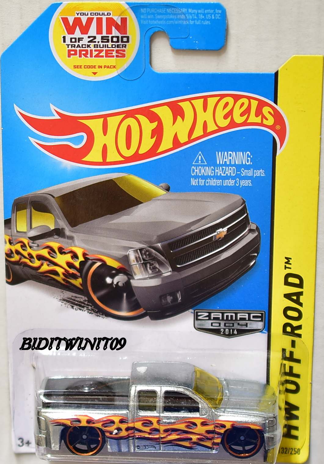 HOT WHEELS 2014 HOT TRUCKS CHEVY SILVERADO ZAMAC