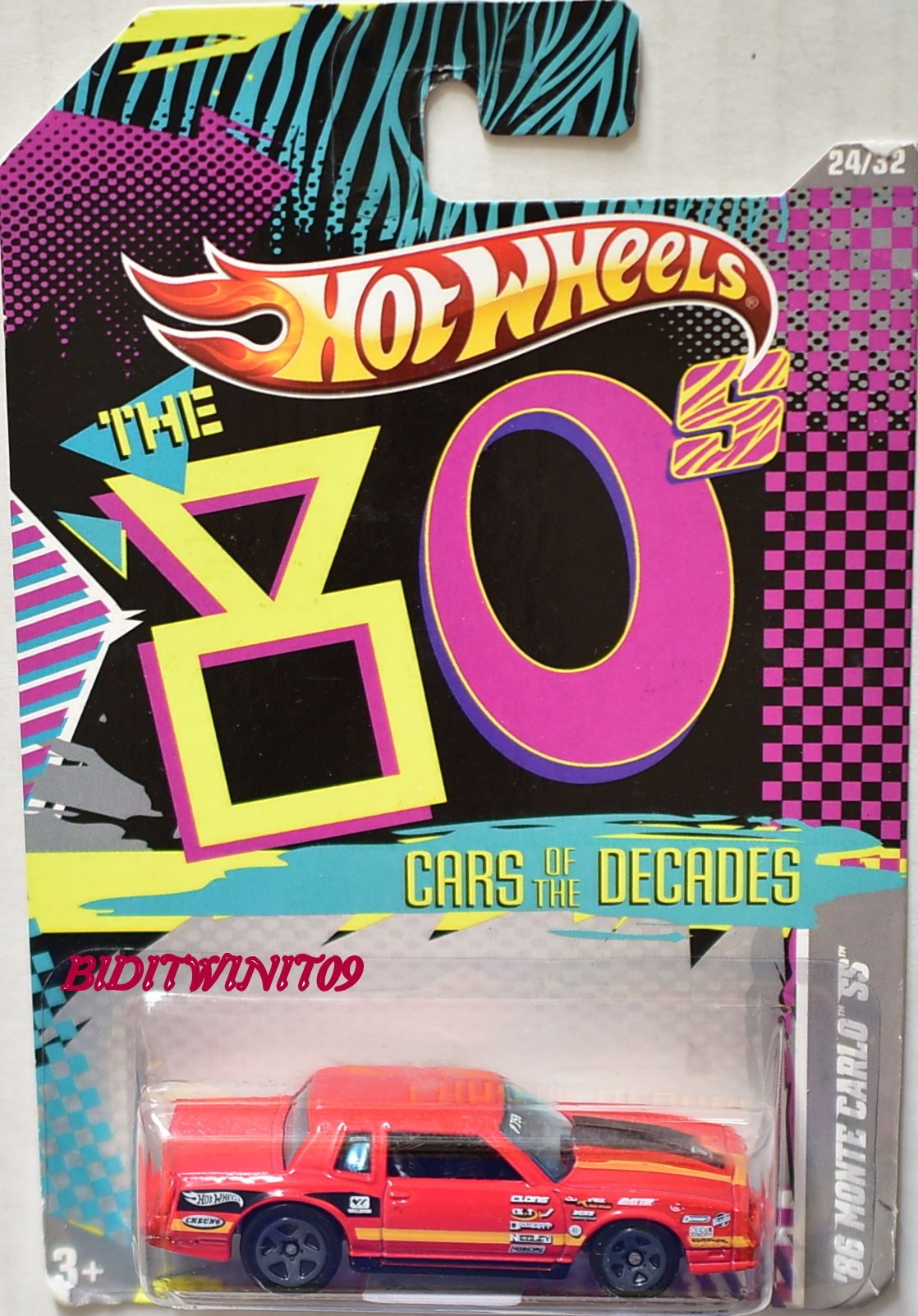 HOT WHEELS THE '80S CARS OF THE DECADES '86 MONTE CARLO SS