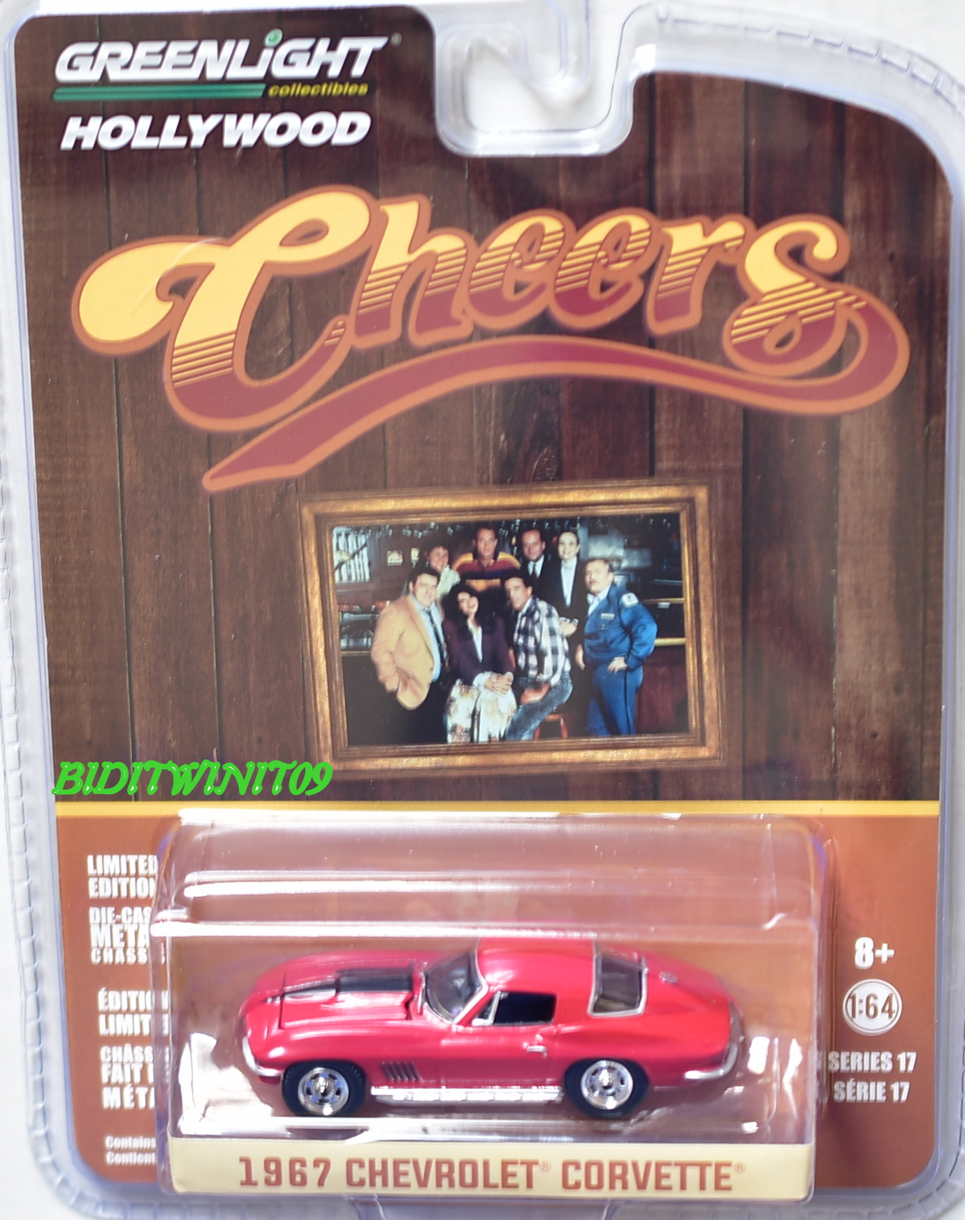GREENLIGHT 2017 HOLLYWOOD SERIES 17 THEERS 1967 CHEVROLET CORVETTE