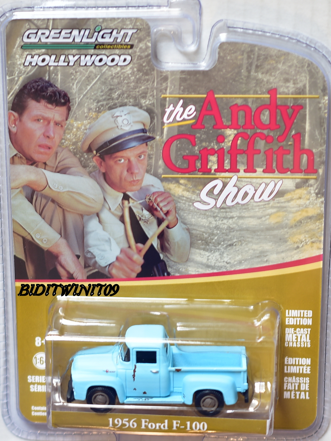 GREENLIGHT 2017 HOLLYWOOD SERIES 17 1956 FORD F-100 THE ANDY GRIFFITH SCALE 1:64