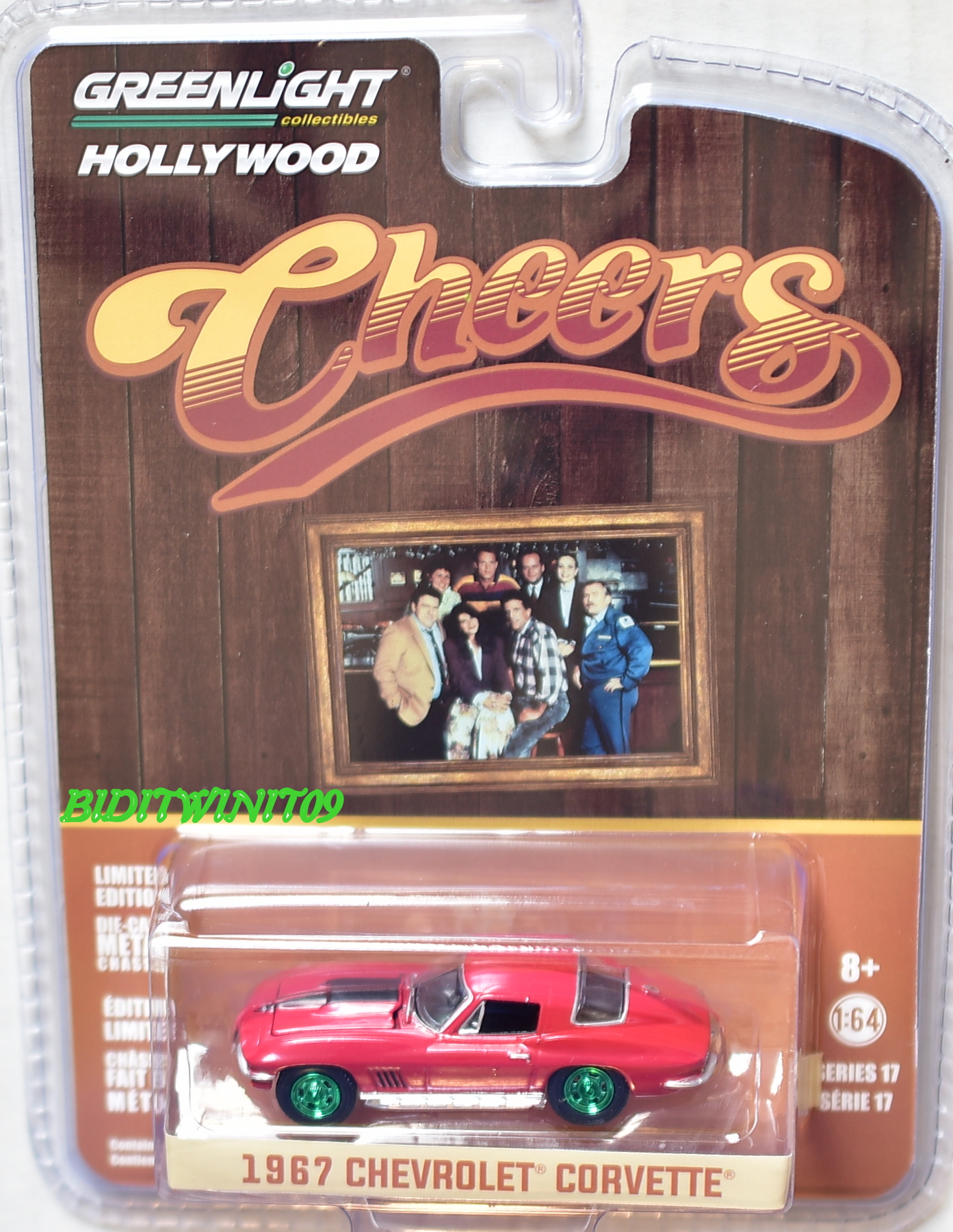 GREENLIGHT 2017 HOLLYWOOD SERIES 17 1967 CHEVROLET CORVETTE GREEN MACHINE