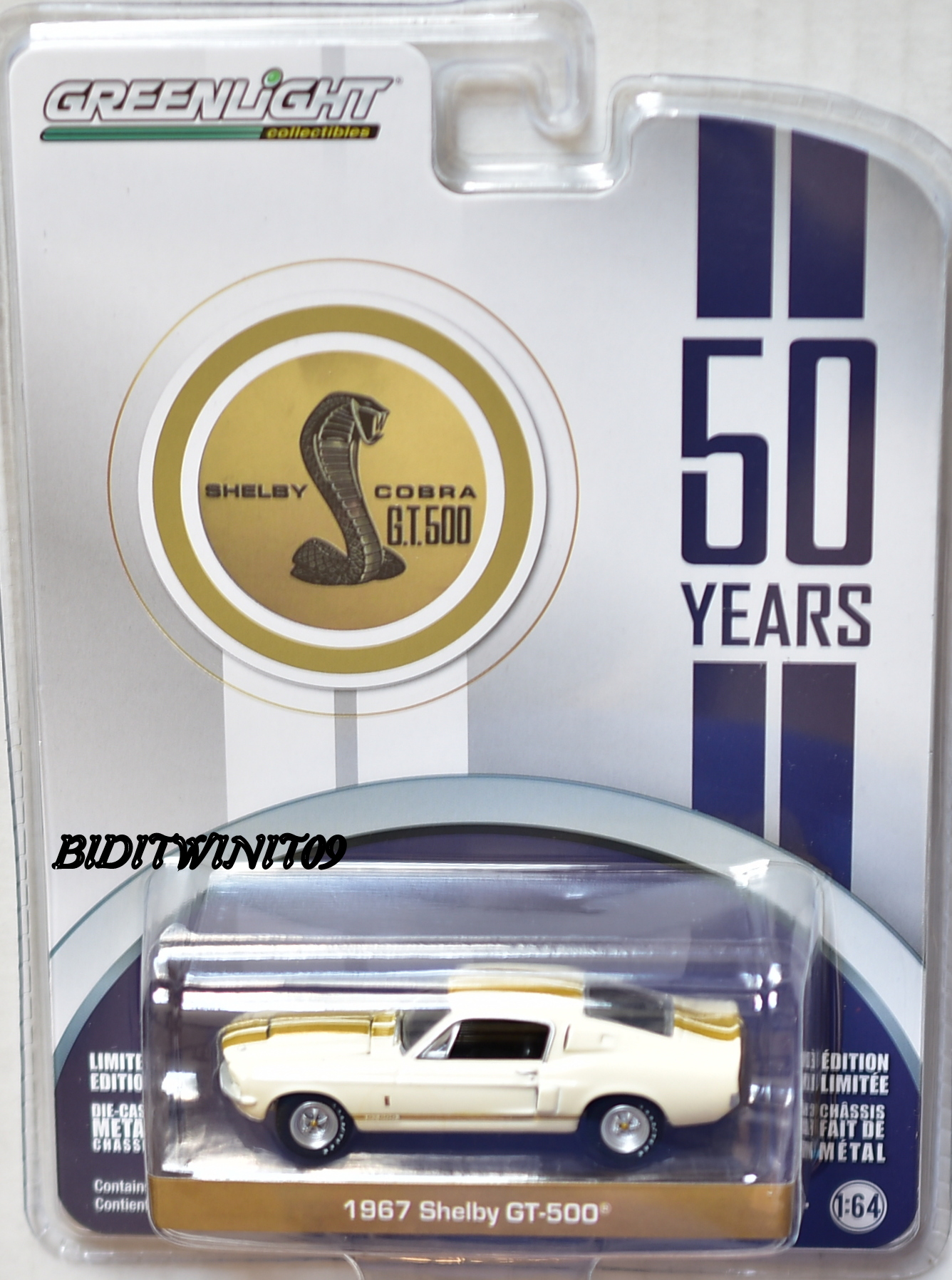 GREENLIGHT 2017 50 YEARS 1967 SHELBY GT-500