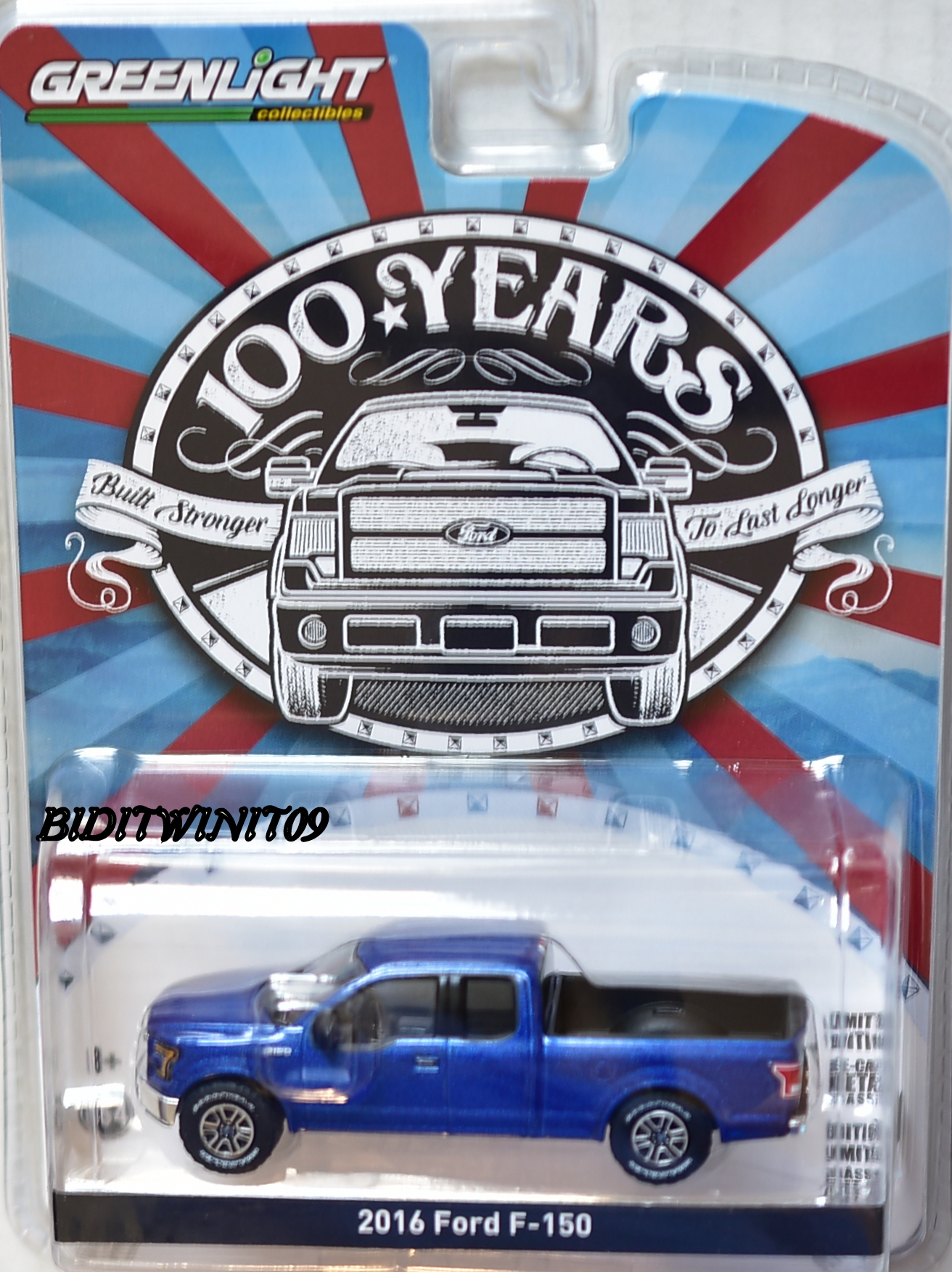 GREENLIGHT 2017 100 YEARS ANNIVERSARY 2016 FORD F-100
