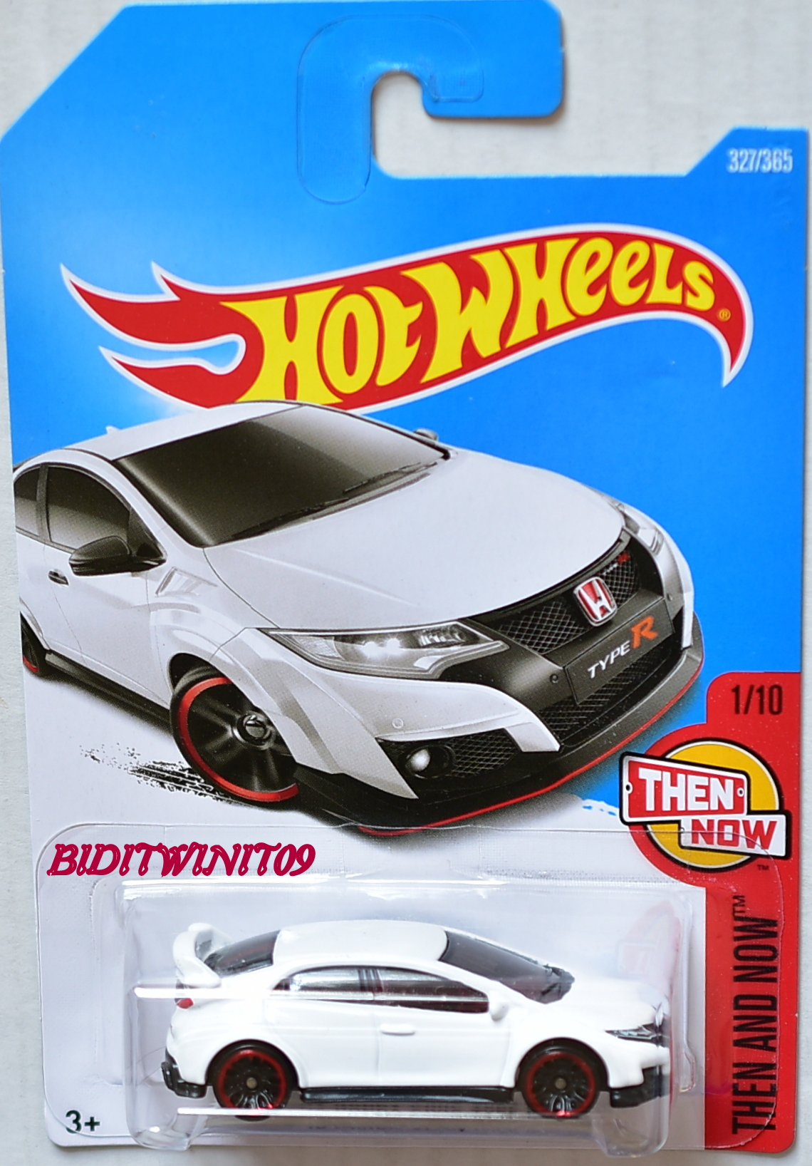 HOT WHEELS 2017 THEN AND NOW '16 HONDA CIVIC TYPE R #1/10 WHITE