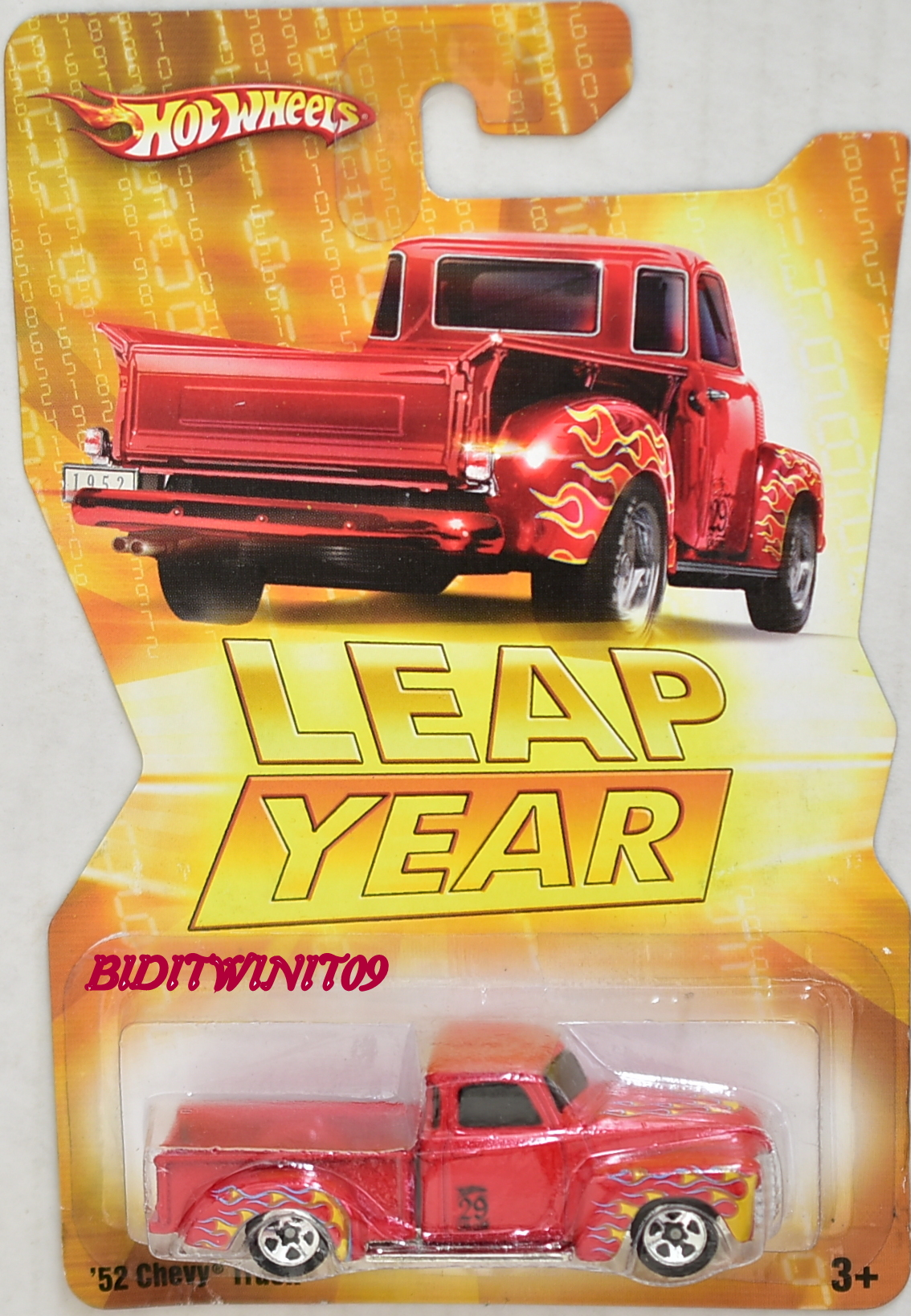 HOT WHEELS LEAP YEAR '52 CHEVY TRUCK RED