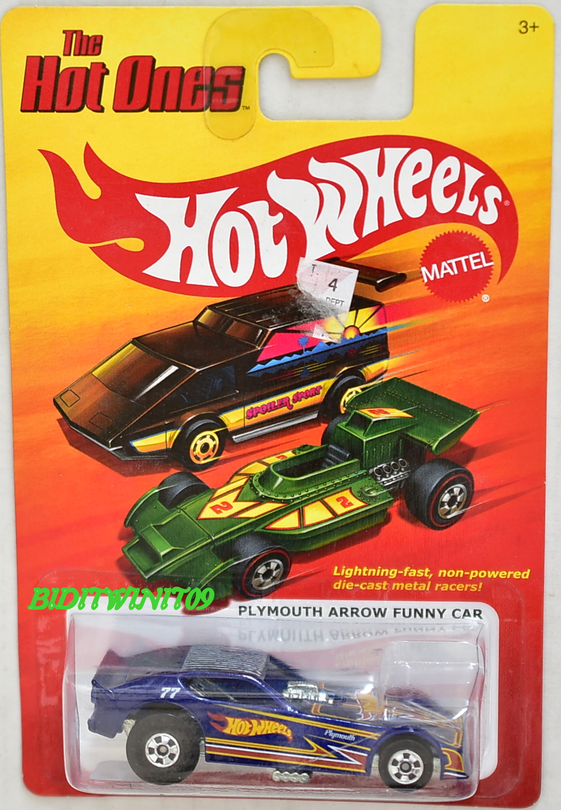 HOT WHEELS 2011 THE HOT ONES PLYMOUTH ARROW FUNNY CAR BLUE