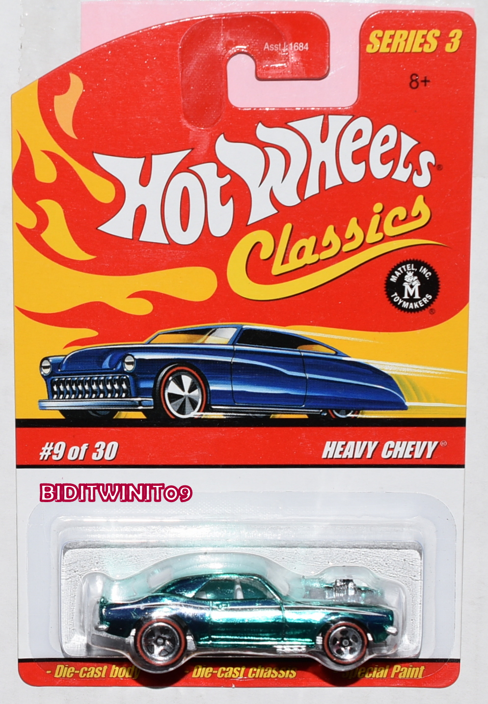 HOT WHEELS 2002 '57 CHEVY IM A TEENAGE FREAK #225 FACTORY SEALED E+