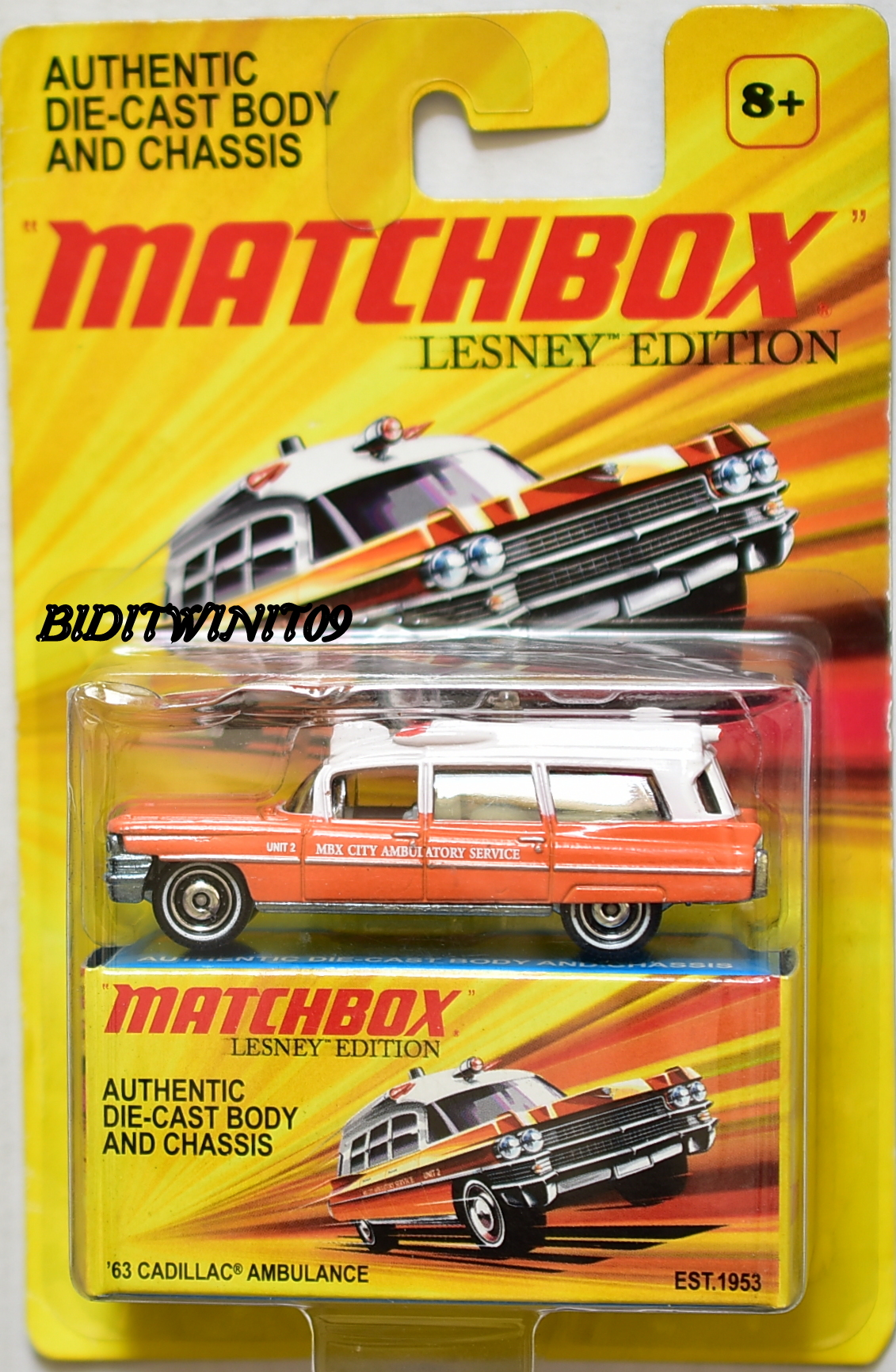 MATCHBOX 2010 LESNEY EDITION '63 CADILLAC AMBULANCE E+