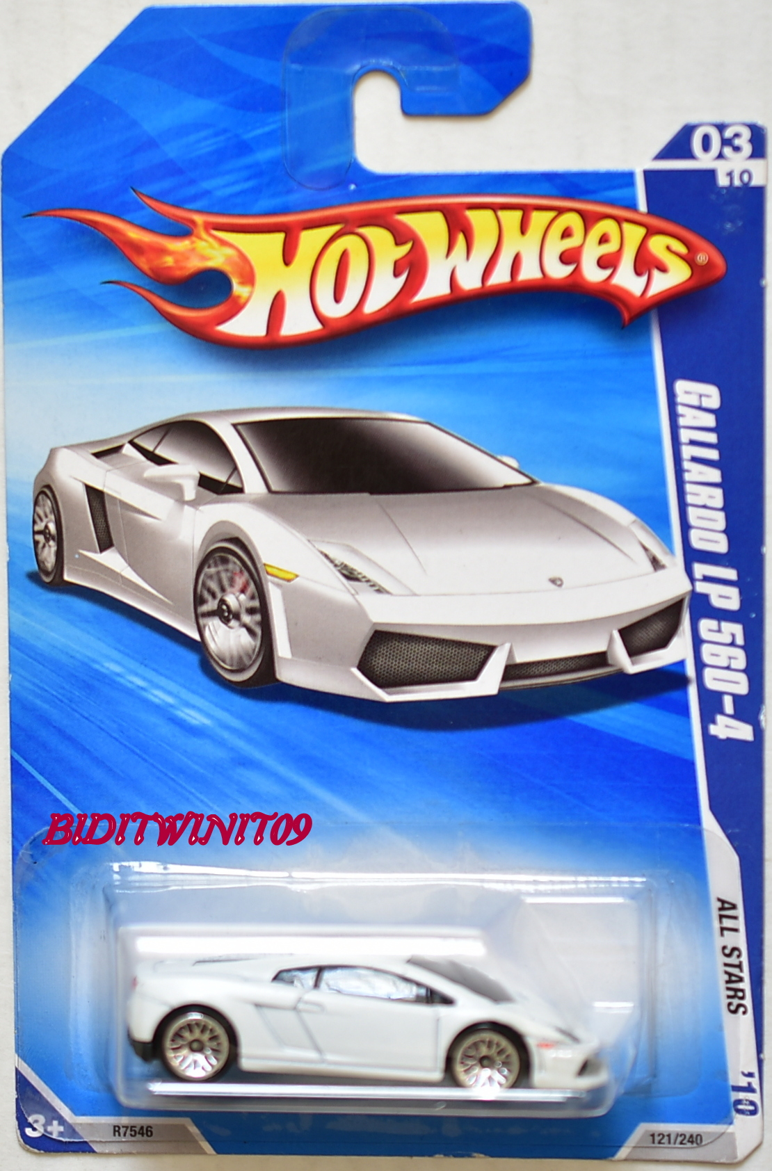 HOT WHEELS 2010 ALL STARS GALLARDO LP 560-4 #03/10 WHITE E+