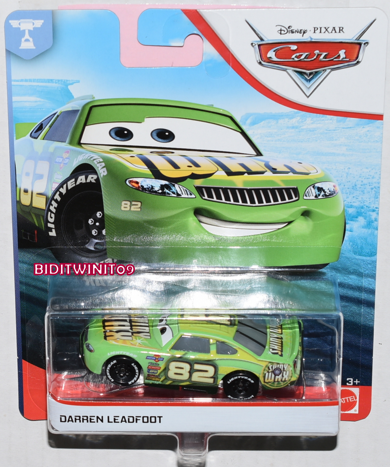 DISNEY PIXAR CARS DARREN LEADFOOT E+
