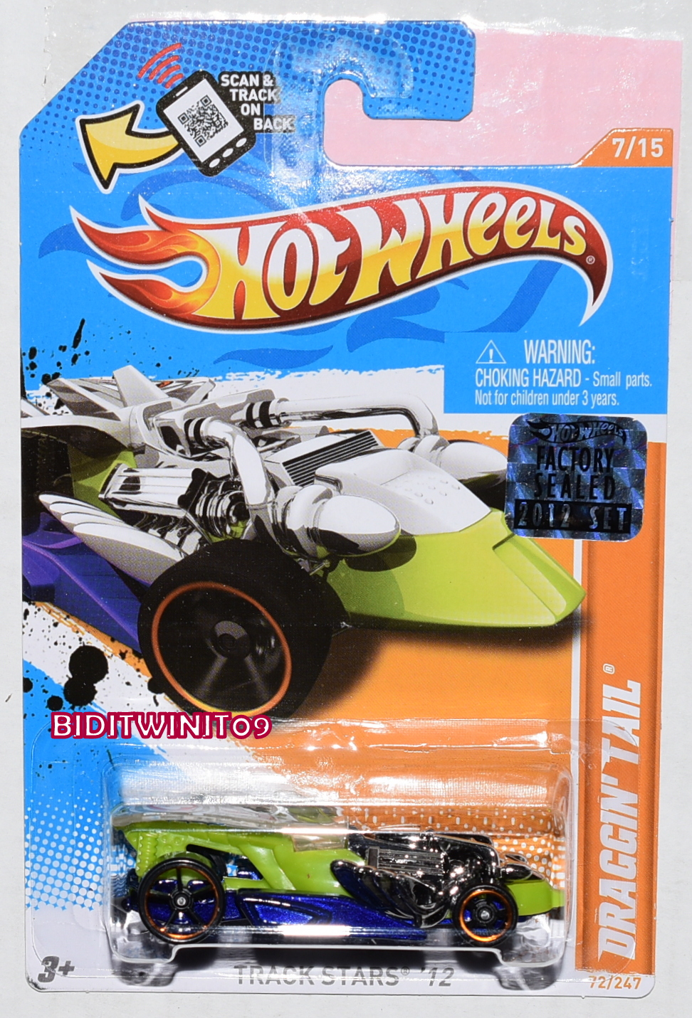 HOT WHEELS 2012 TRACK STARS DRAGGIN' TAIL FACTORY SEALED