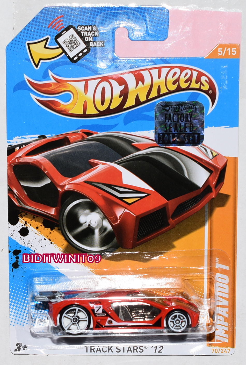 HOT WHEELS BLUE CARD DRIVEN TO THE MAX #245 E+