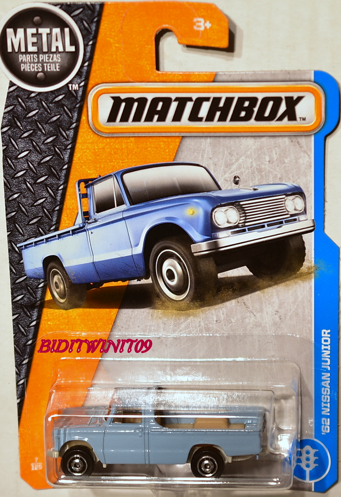 MATCHBOX 2017 METAL PARTS PIEZAS '62 NISSAN JUNIOR