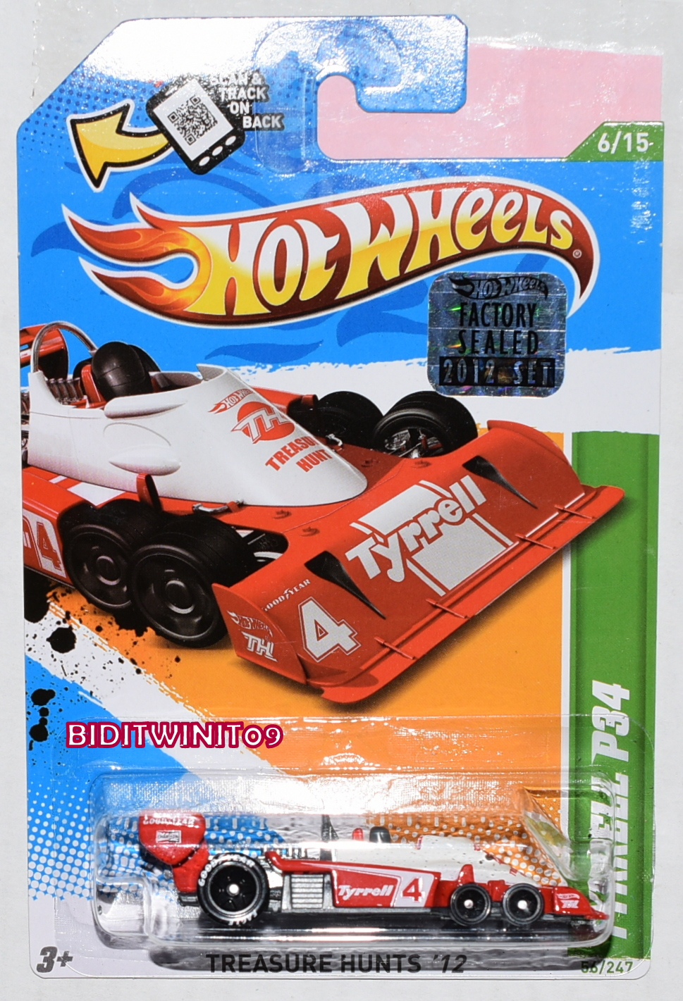 HOT WHEELS 2012 REGULAR TREASURE HUNT TYRRELL P34 FACTORY SEALED