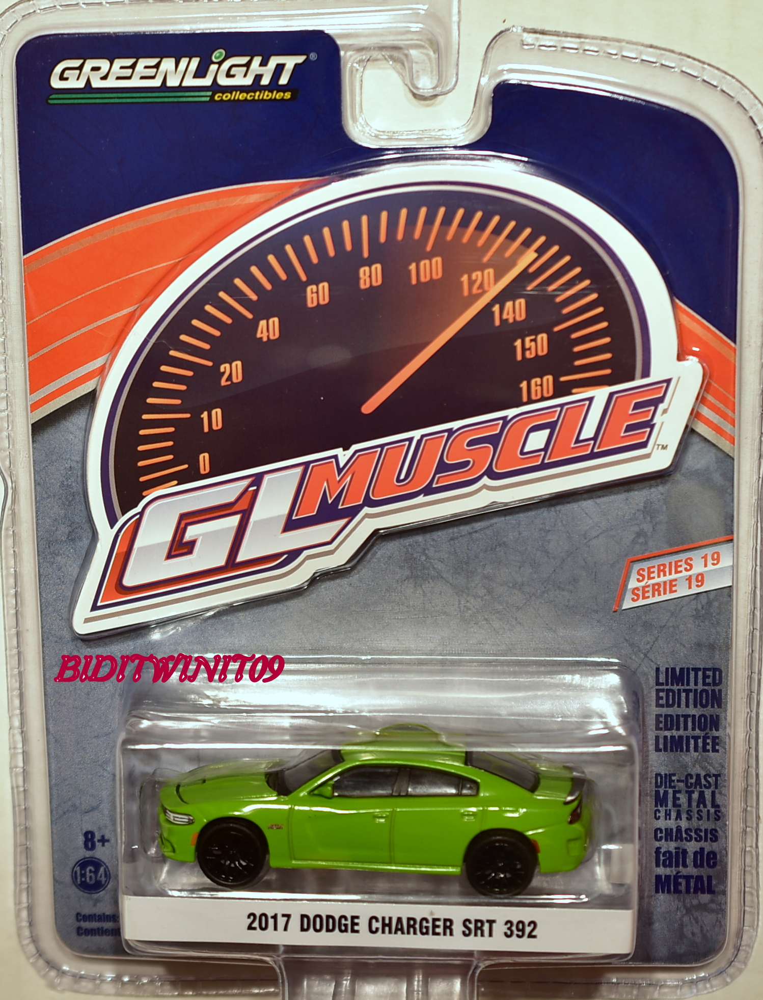GREENLIGHT 2017 GLMUSCLE SERIES 19 2017 DODGE CHARGER SRT 392