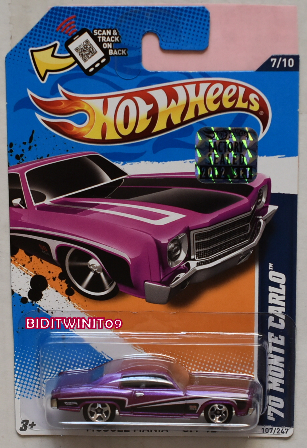 HOT WHEELS 1990 BLUE CARD HOT BIRD #37