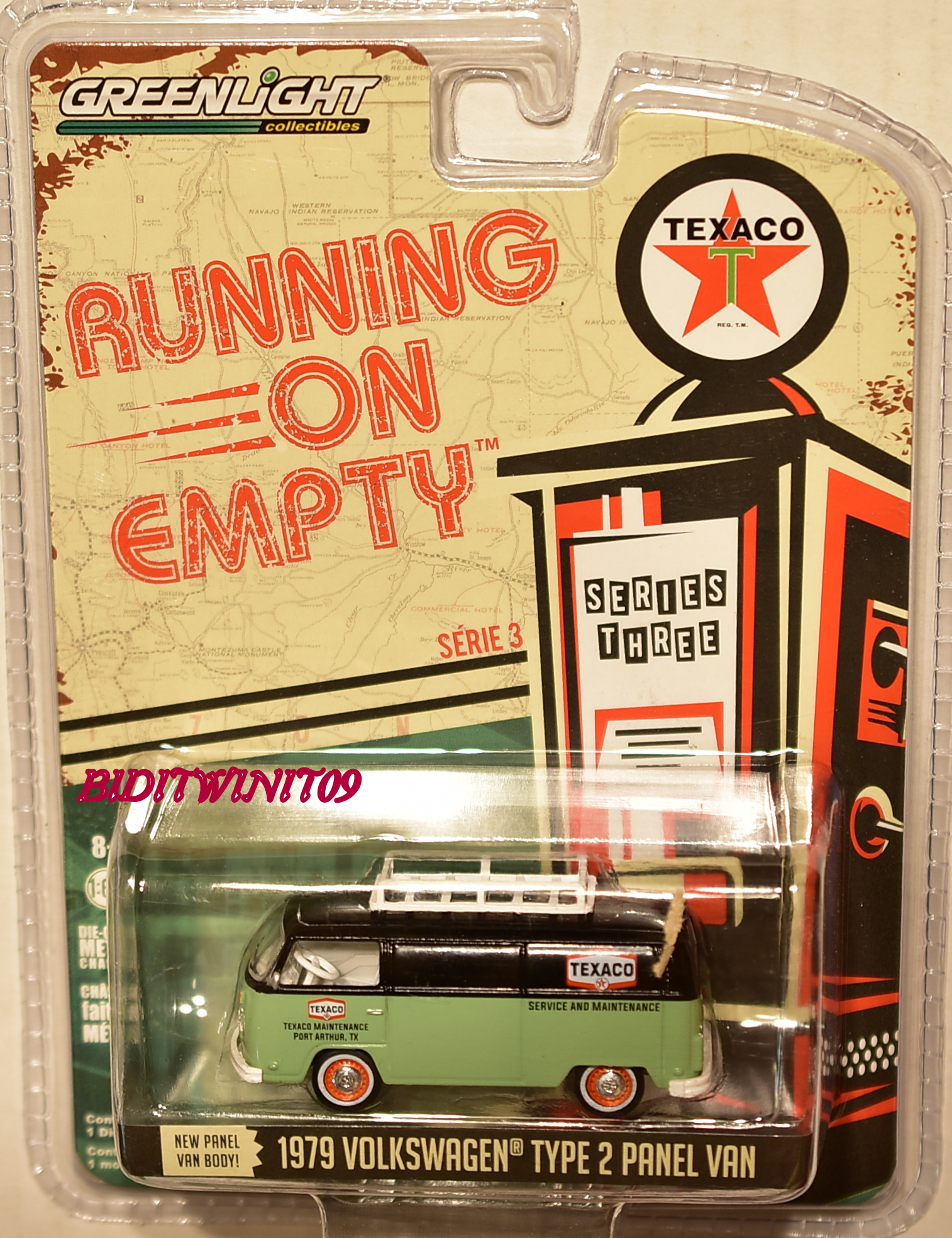 GREENLIGHT 2017 RUNNING ON EMPTY SERIES 3 1979 VOLKSWAGEN TYPE 2 PANEL VAN