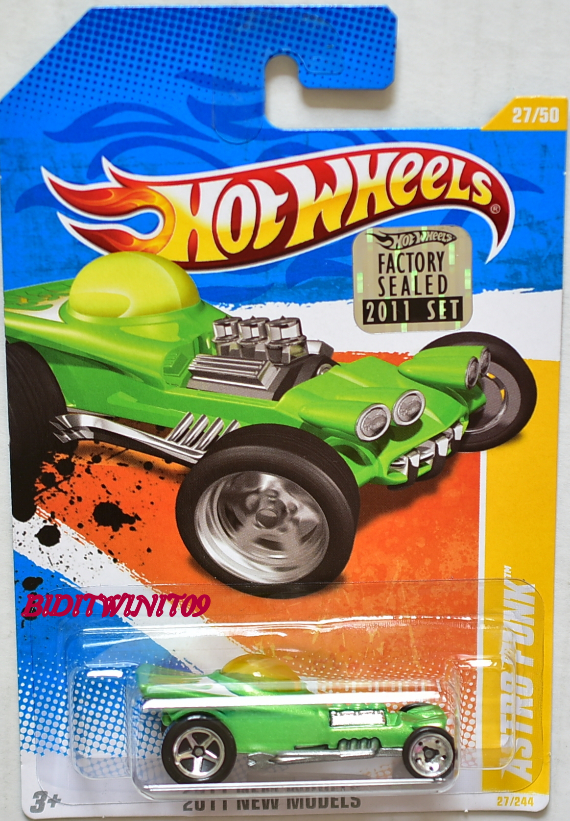 HOT WHEELS 2017 NIGHTBURNERZ '70 CHEVY CHEVELLE #7/10 SHORT CARD