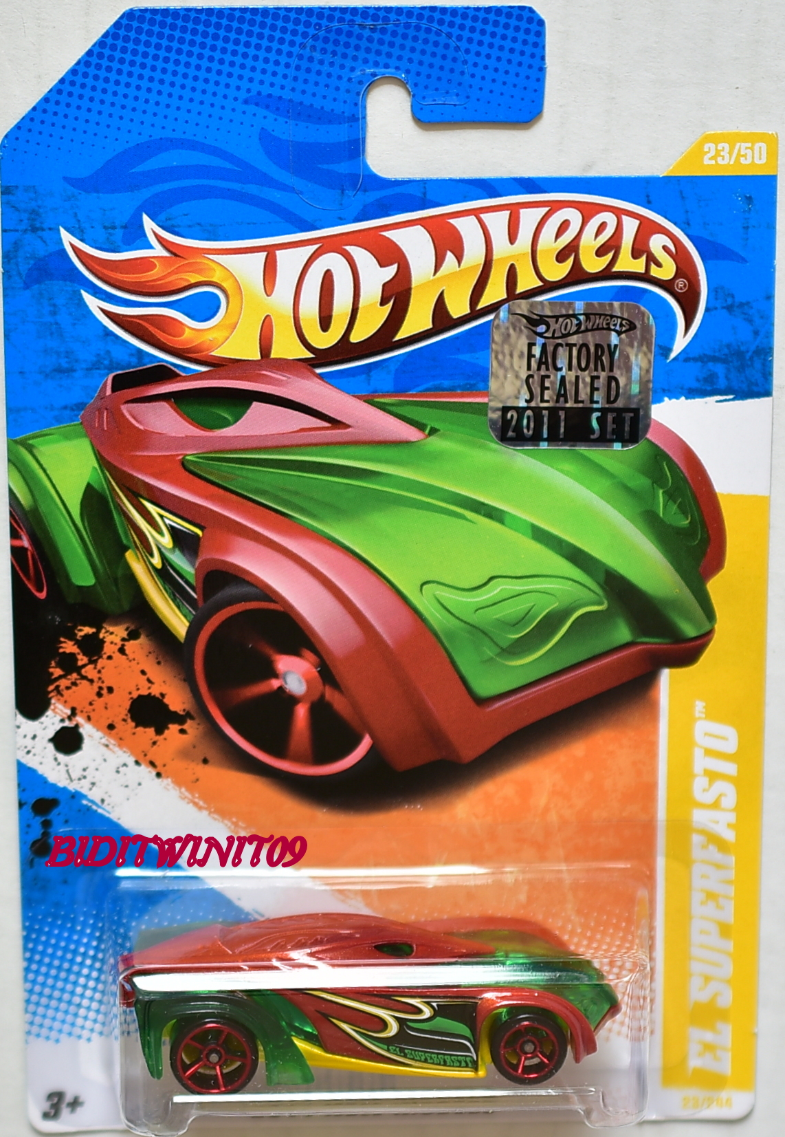 HOT WHEELS 2011 NEW MODELS EL SUPERFASTO RED FACTORY SEALED