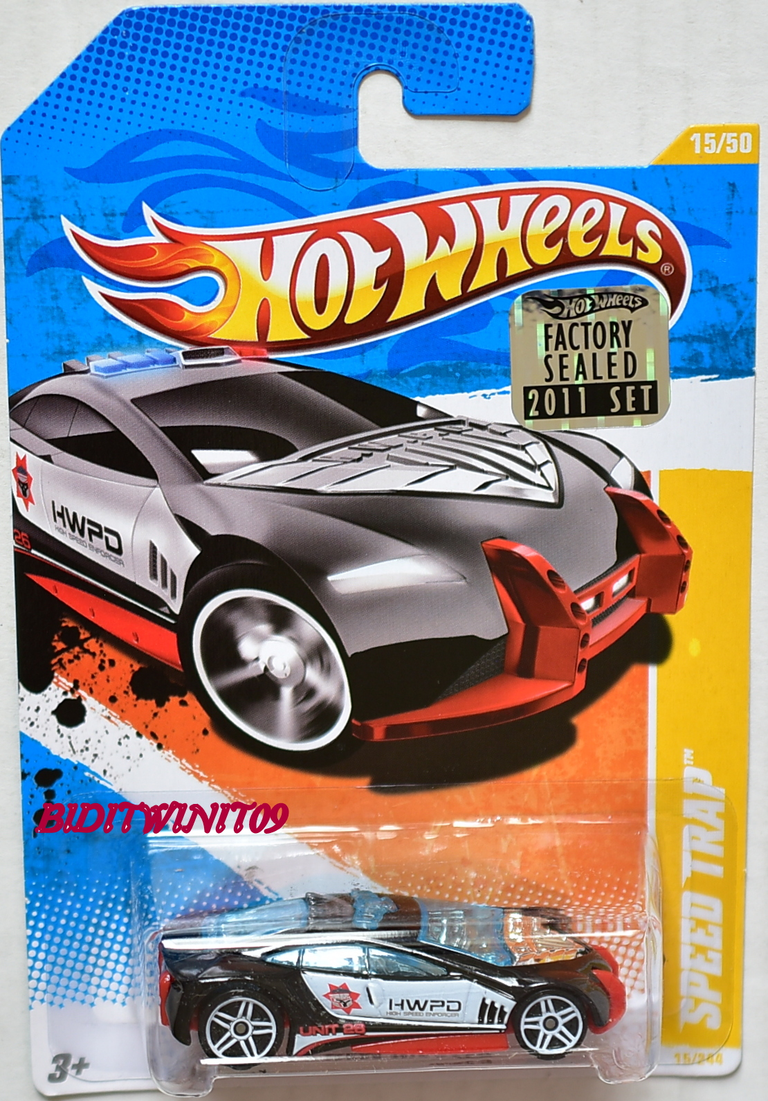 HOT WHEELS 2011 NEW MODELS SPEED TRAP #15/50 BLACK FACTORY SEALED
