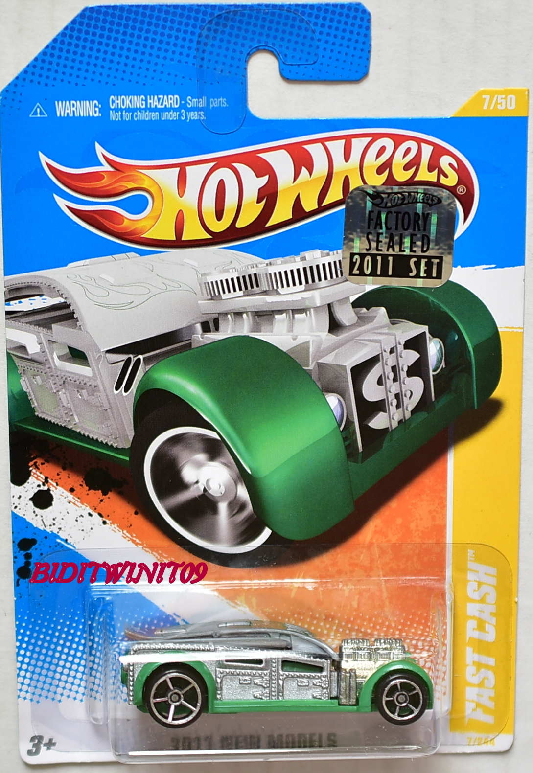 HOT WHEELS 2011 NEW MODELS FAST CASH #7/50 SILVER FACTORY SEALED