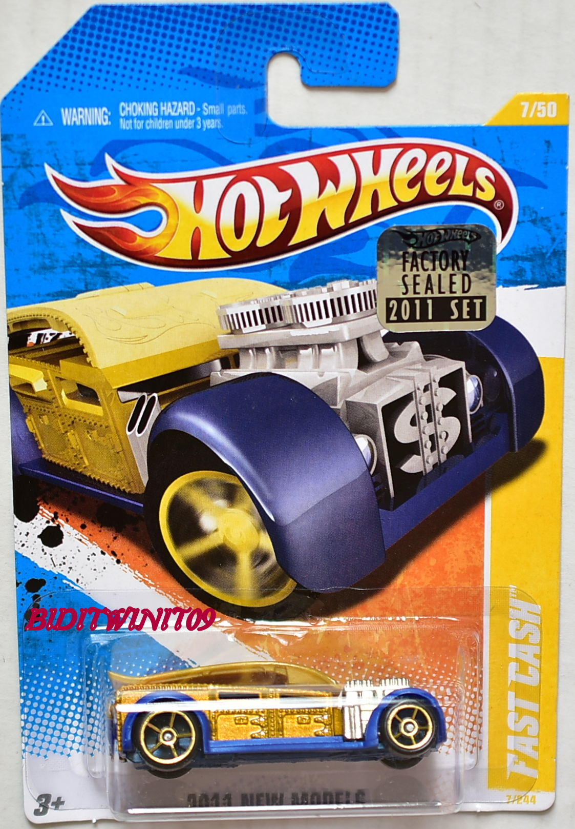 HOT WHEELS 2011 NEW MODELS FAST CASH #7/50 FACTORY SEALED
