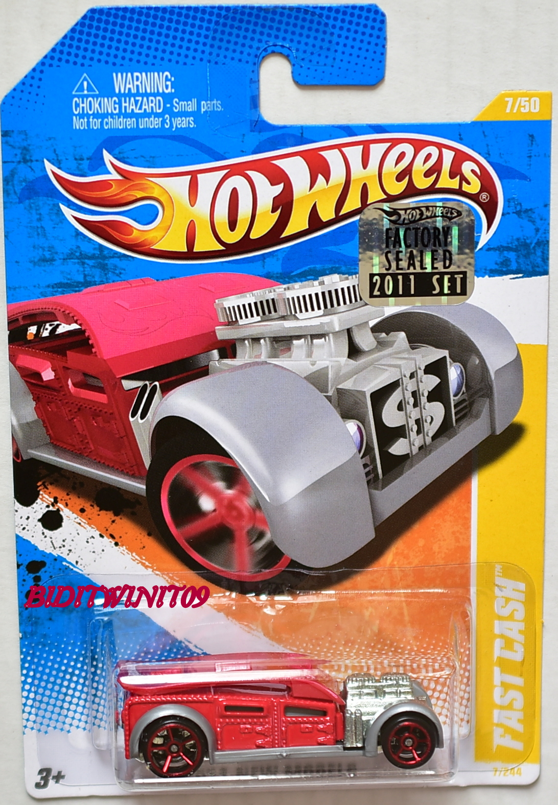 HOT WHEELS 2011 NEW MODELS FAST CASH #7/50 RED FACTORY SEALED