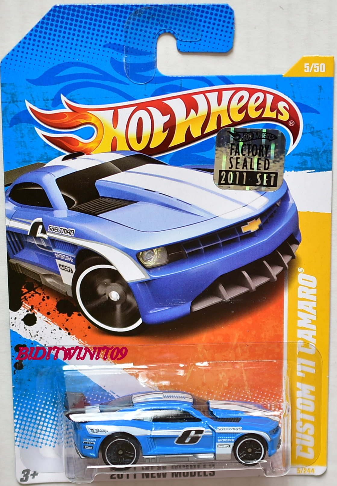 HOT WHEELS 2011 NEW MODELS CUSTOM '11 CAMARO BLUE FACTORY SEALED
