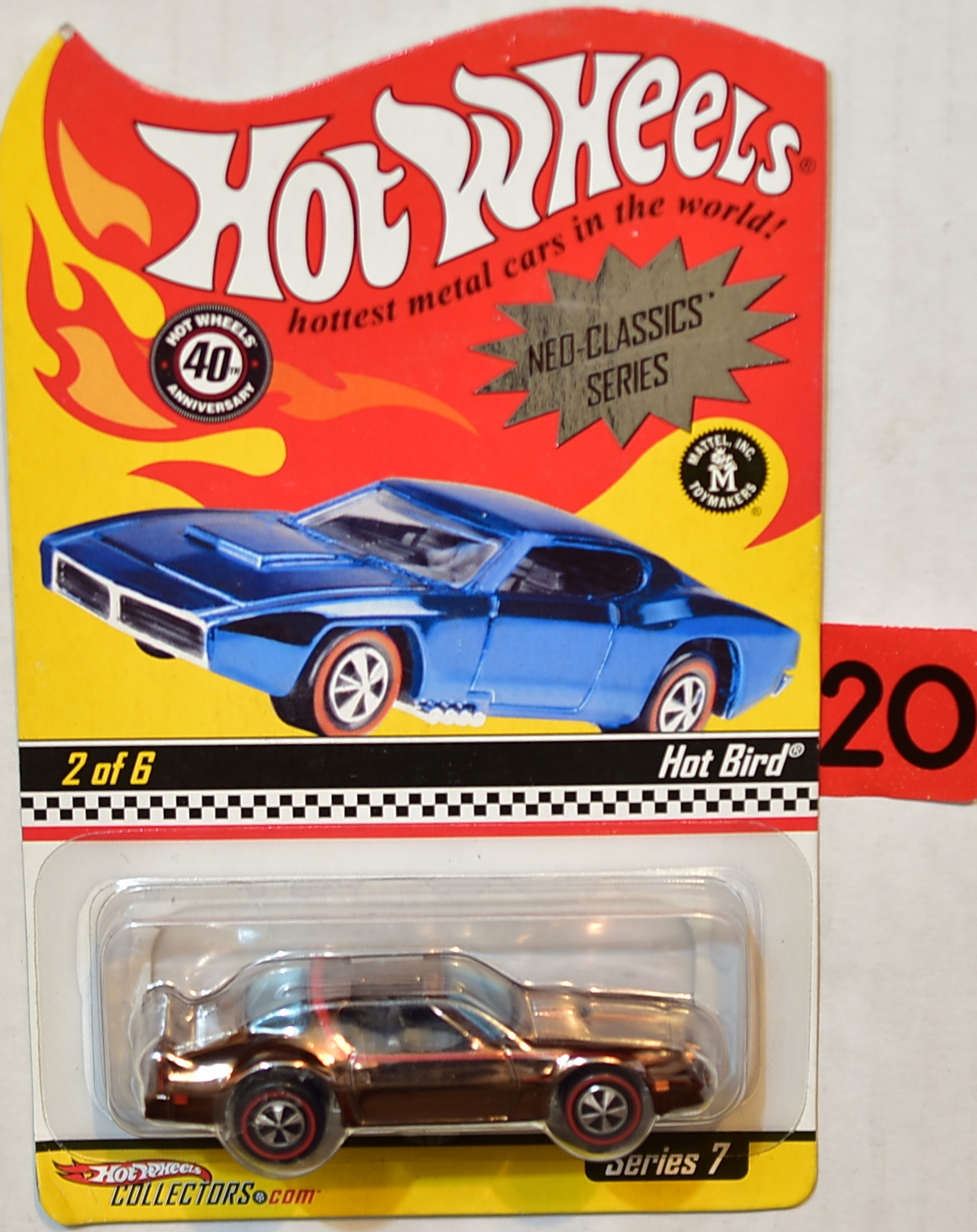 HOT WHEELS 2007 NEO-CLASSICS SERIES #2/6 SERIES 7 HOT BIRD