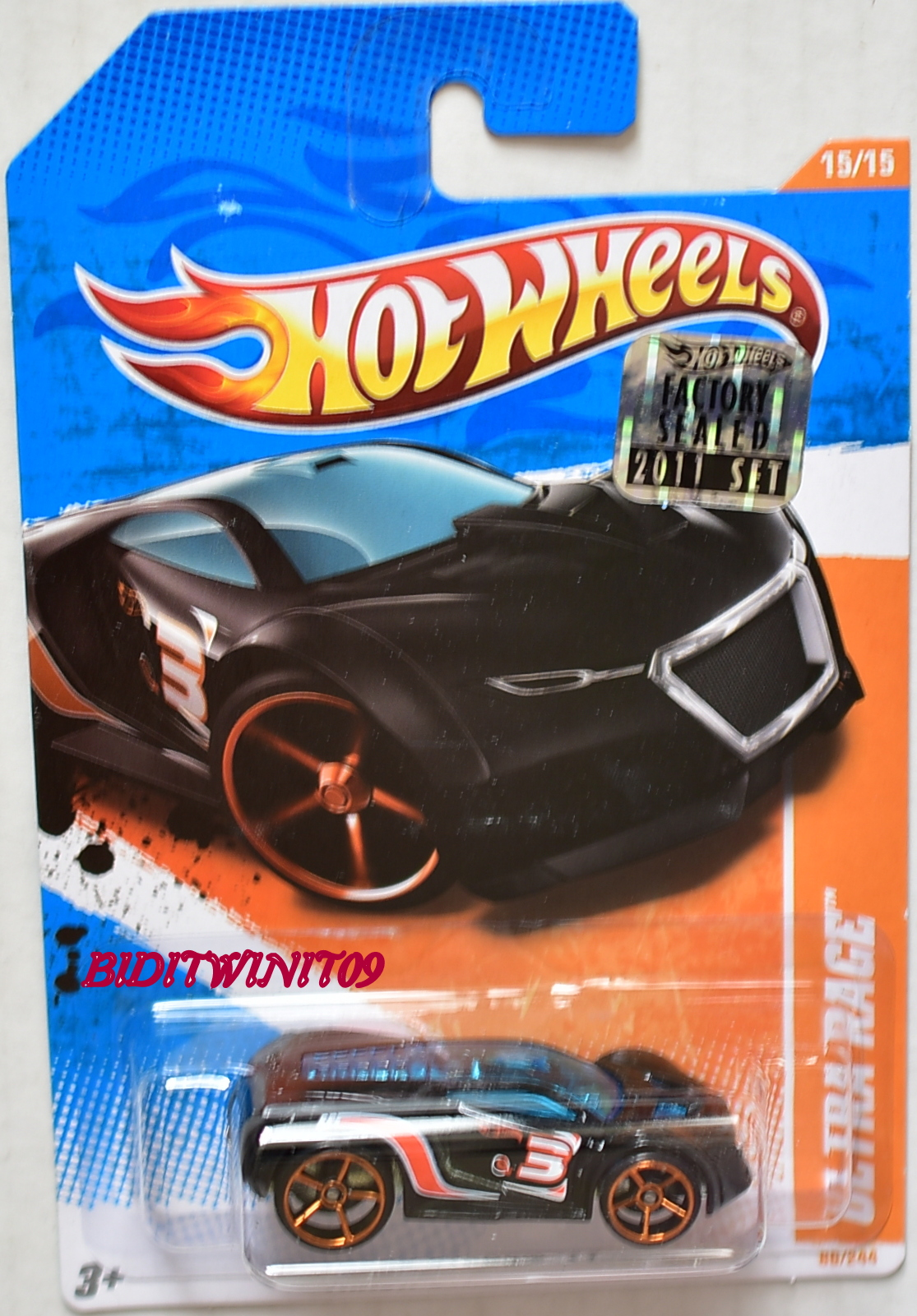 HOT WHEELS 2011 TRACK STARS ULTRA RAGE #15/15 BLACK FACTORY SEALED