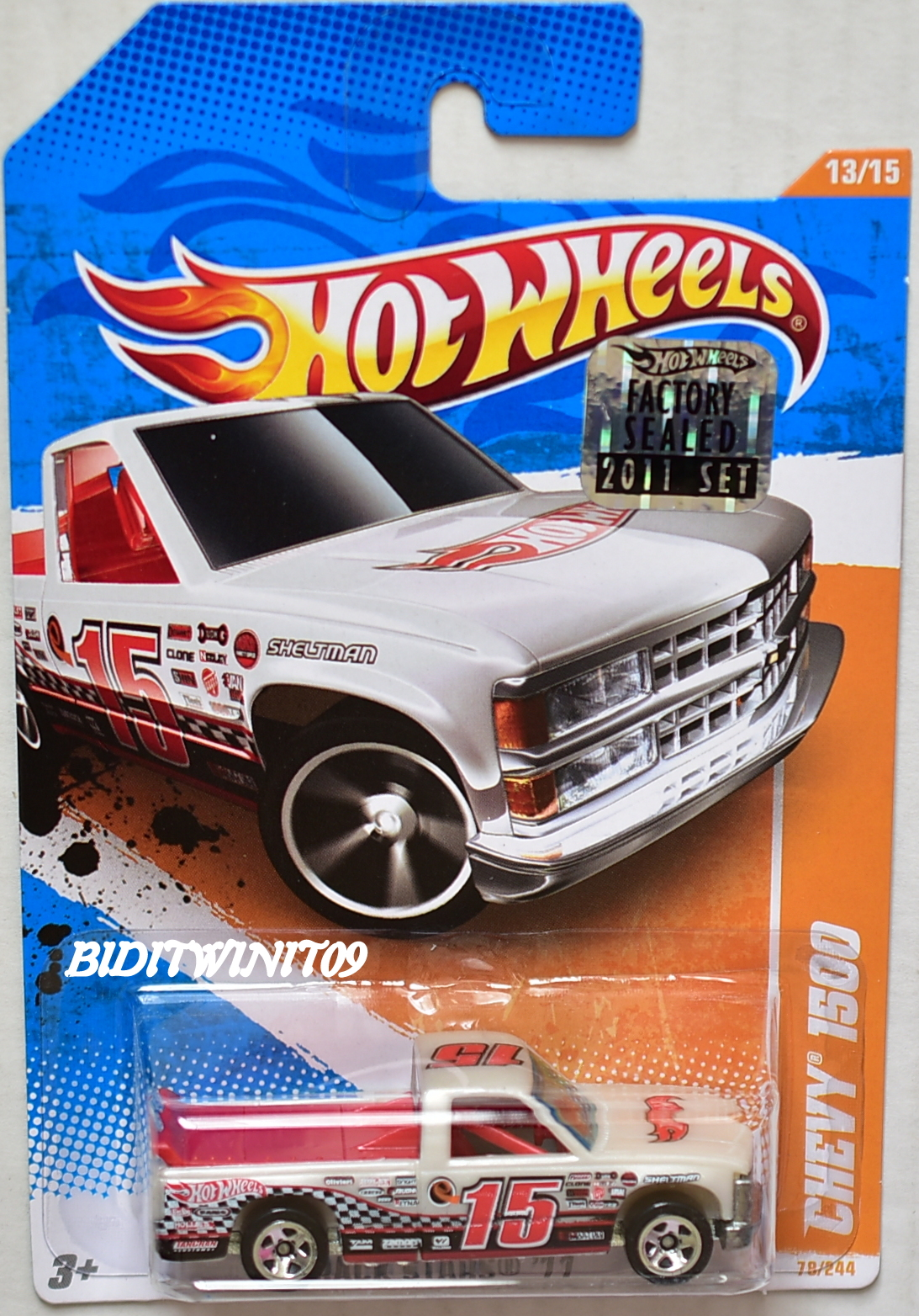 HOT WHEELS 2011 TRACK STARS CHEVY 1500 #13/15 FACTORY SEALED