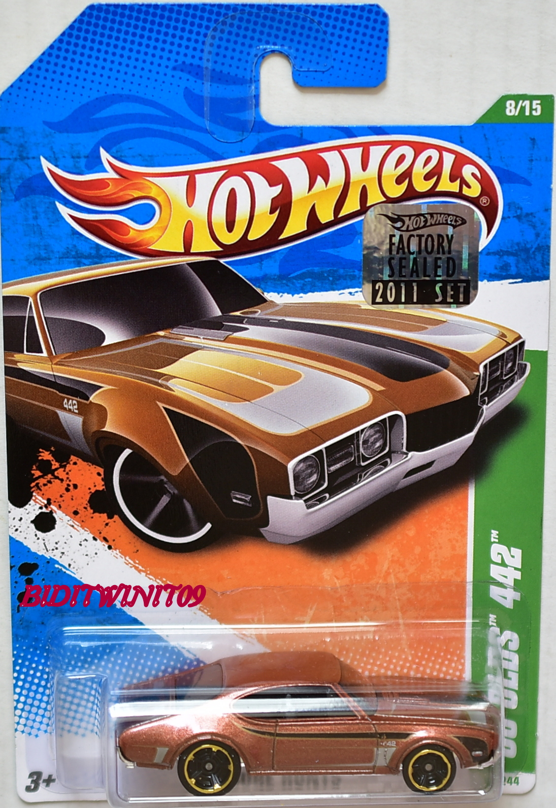HOT WHEELS 2011 REGULAR TREASURE HUNT '68 OLDS 442 FACTORY SEALED