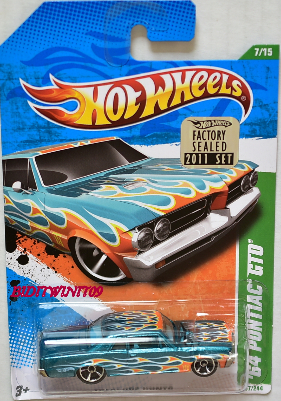 HOT WHEELS 2011 REGULAR TREASURE HUNT '64 PONTIAC GTO FACTORY SEALED