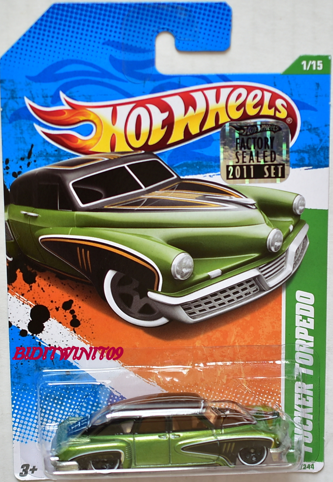 HOT WHEELS 2011 REGULAR TREASURE HUNT TUCKER TORPEDO FACTORY SEALED - Click Image to Close